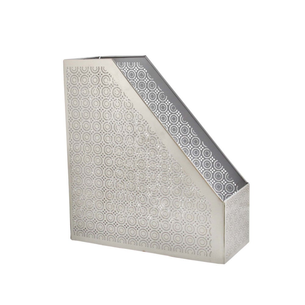 Shop Metallic Silver Magazine Holder - Free Shipping On Orders Over ...