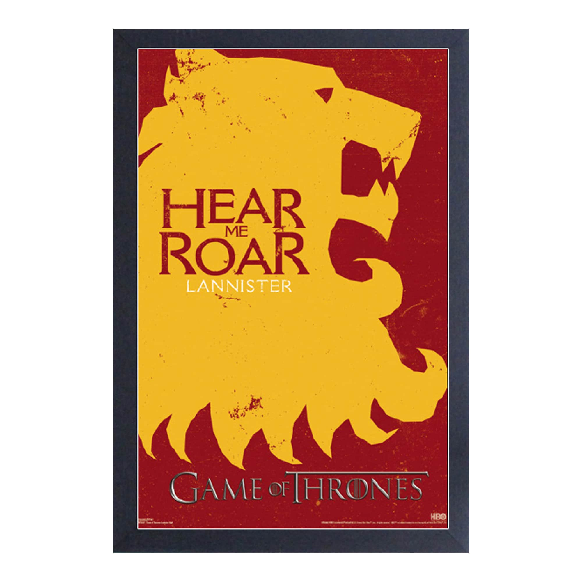 Shop Game of Thrones -Lannister Sigil - Framed 11x17 print - Free ...