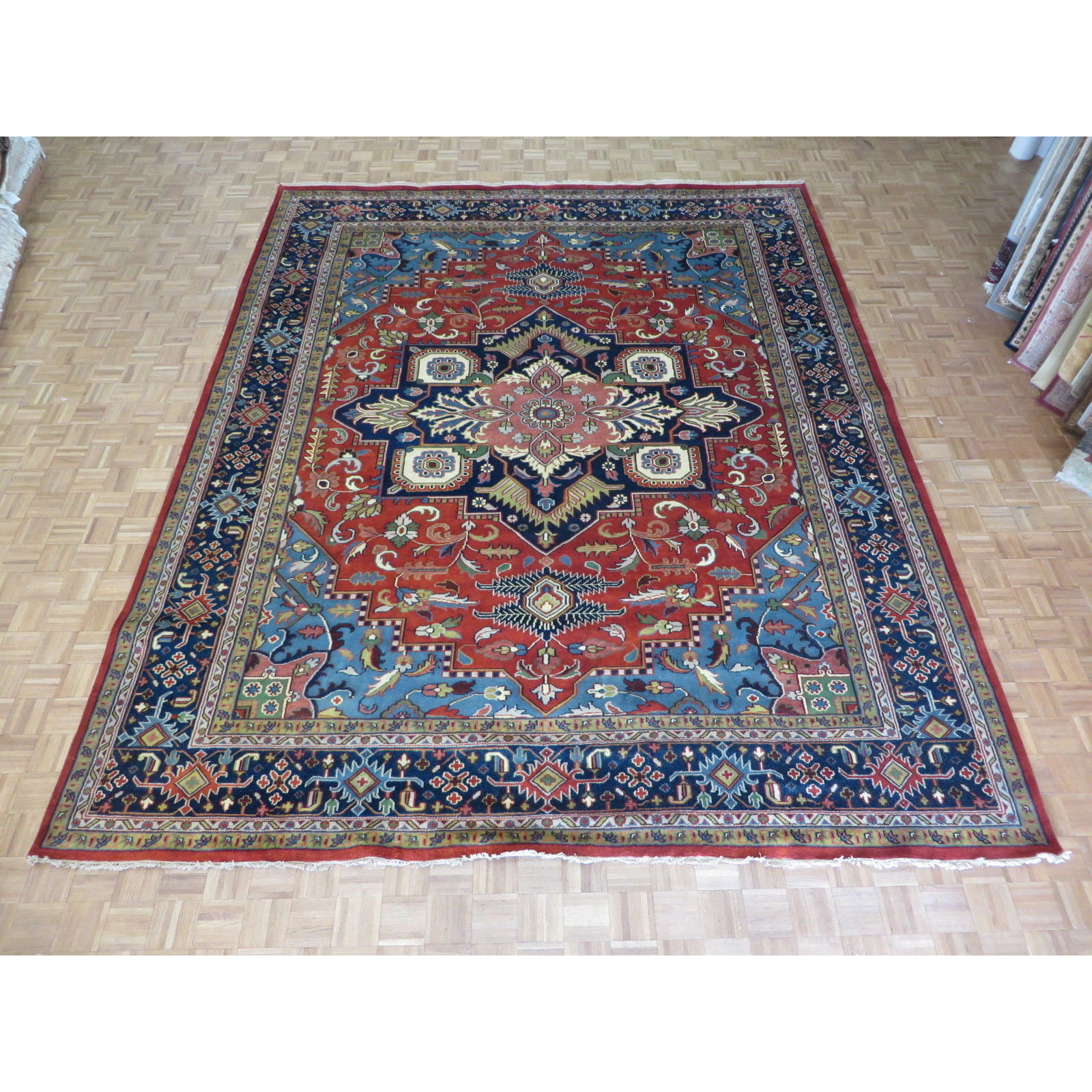 Serapi Heriz Brick Red Wool Hand Knotted Oriental Rug 11 10 X 14 6 Free Shipping Today 16107170