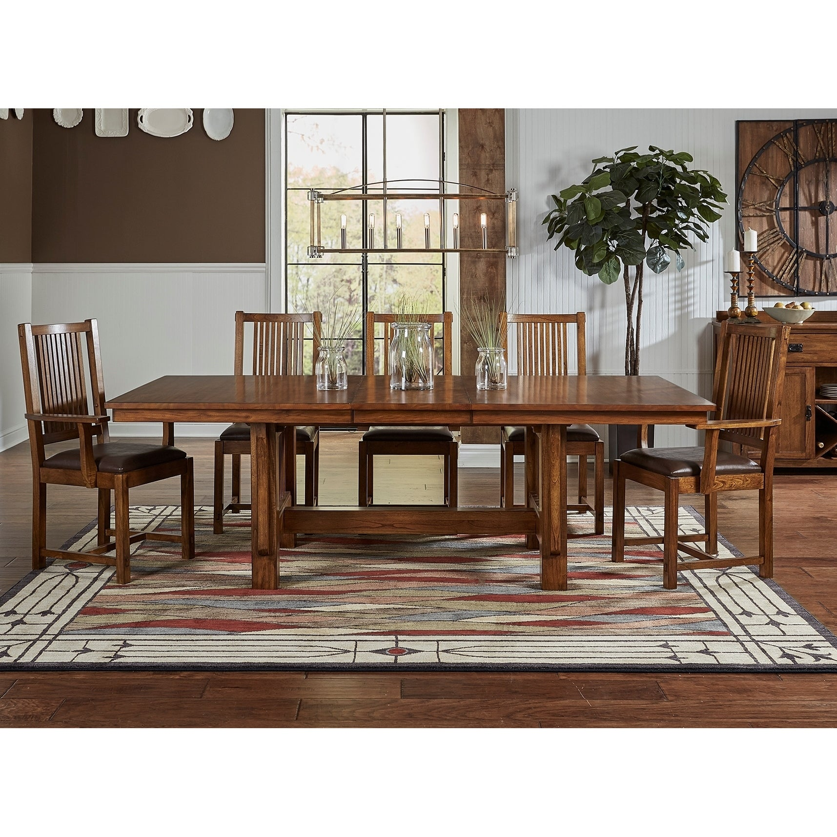 Delicieux Shop Gemma 9 Piece Solid Wood Dining Set   Free Shipping Today    Overstock.com   16119096