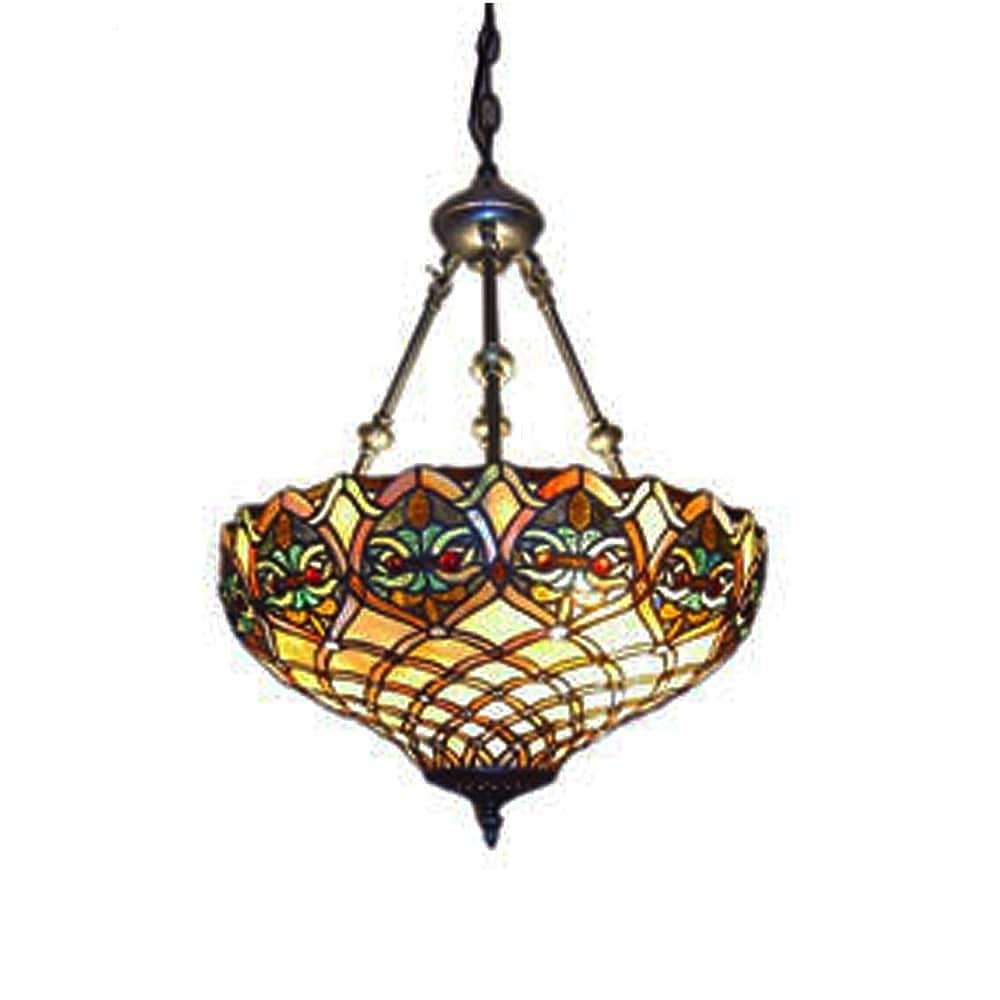 pendant lighting lamp hanging com white tiffany style amora inch ceiling dp amazon lights