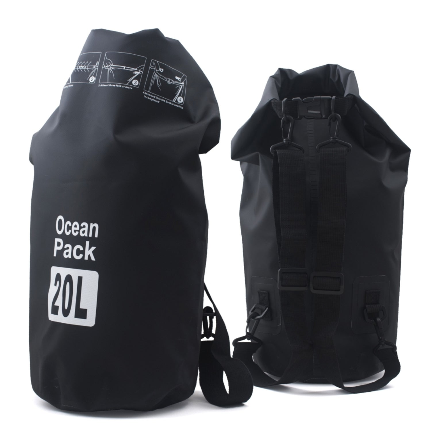93d465c9280d Shop Zodaca 20L Durable Nylon Waterproof Outdoor Adventure Dry Bag Backpack  for Kayaking Boating Floating Swimming Camping Sports - On Sale - Free  Shipping ...