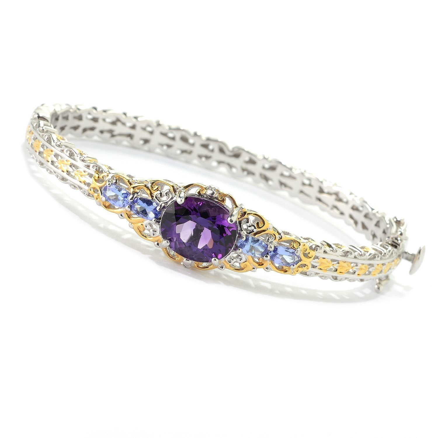 in diamonds tanzanite gold yellow with tw bracelet
