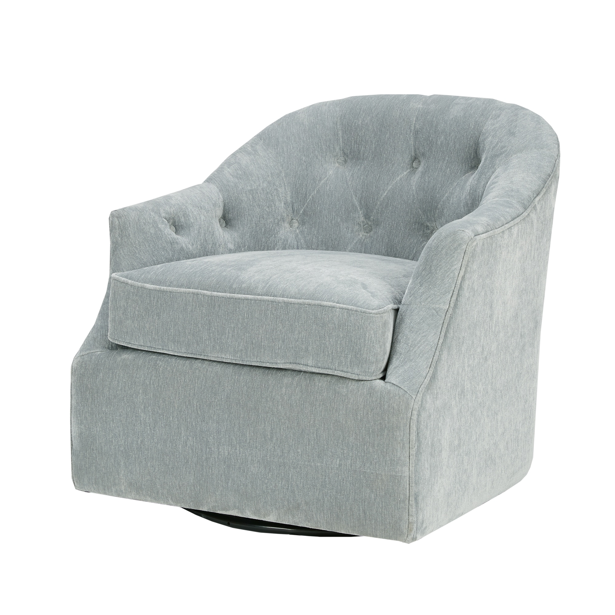 Shop Madison Park Gayla Light Blue Swivel Chair   Free Shipping Today    Overstock.com   16148868