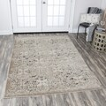 Rizzy Home Panache Beige/ Grey Medallion Area Rug (7'10x10'10)
