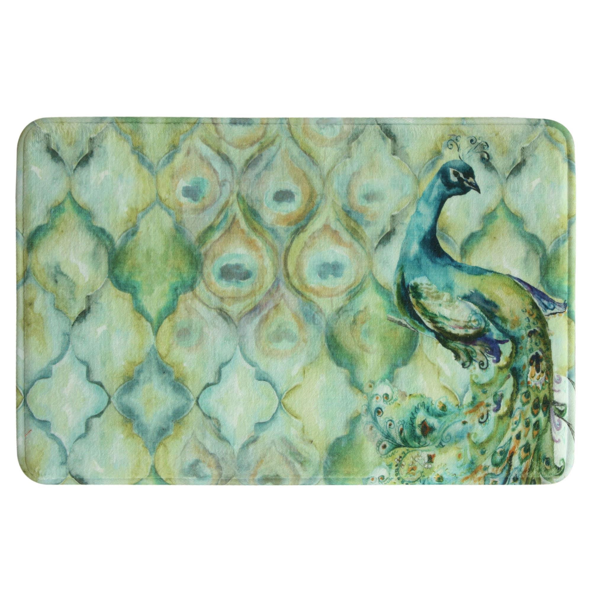 for rug peacock design mats alluring bath runner bathroom rugs l fresh ideas