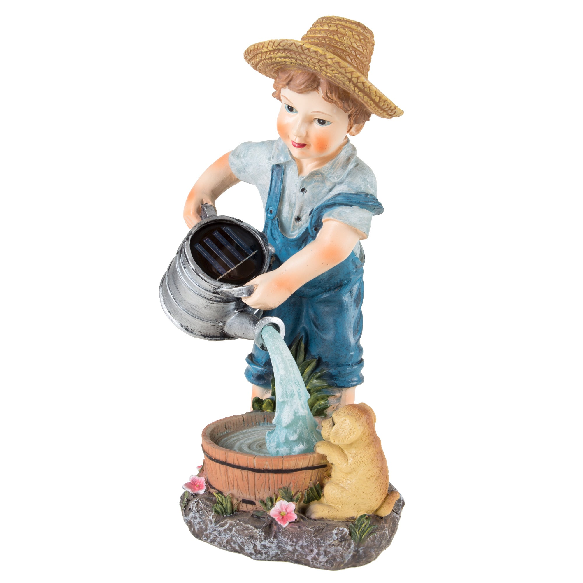 Shop Yard Decor, Solar Outdoor LED Light And Battery Operated Statue For  Garden By Pure Garden   Little Boy Statue   Free Shipping On Orders Over  $45 ...