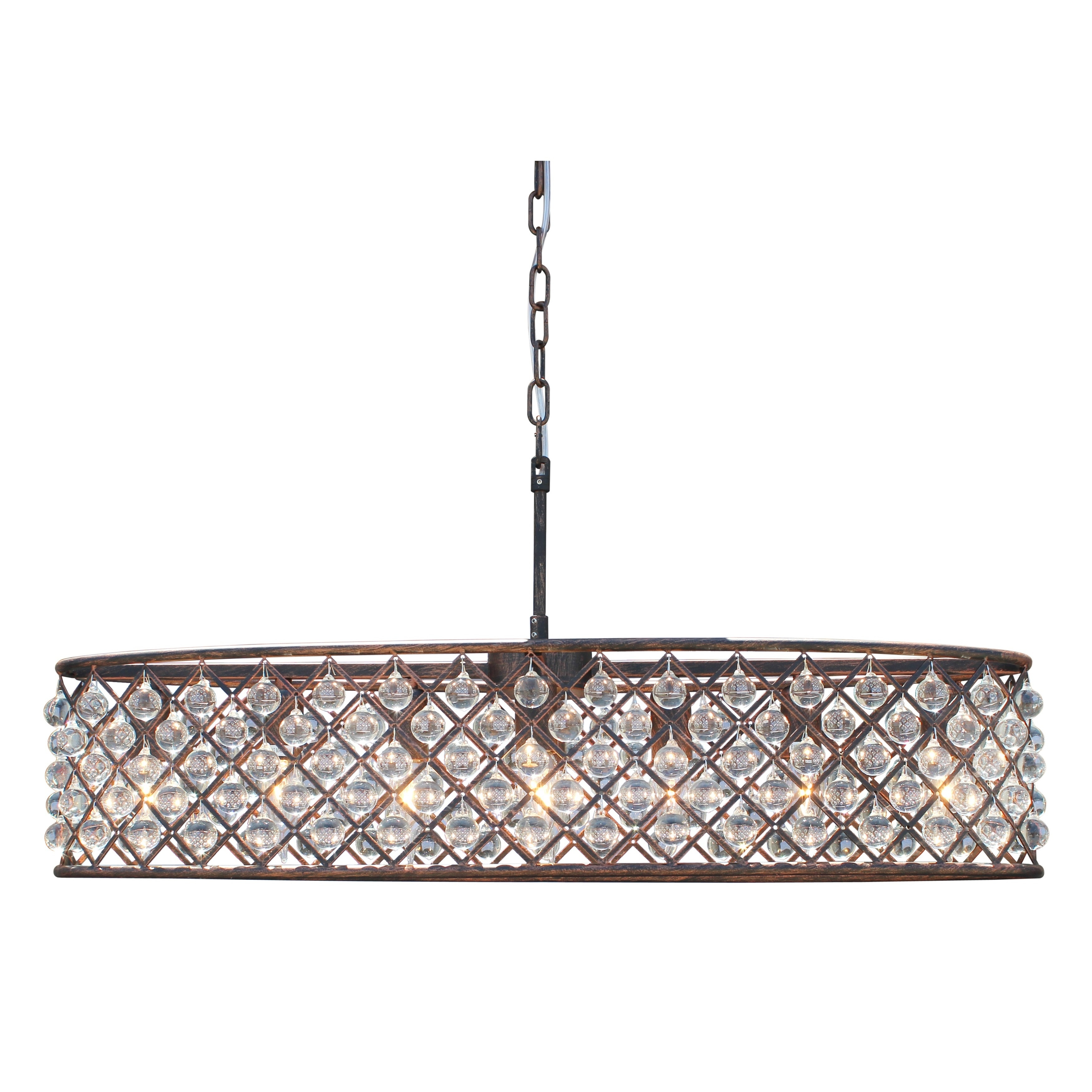 Cassiel Oil rubbed Bronze Oval Crystal Chandelier Free Shipping