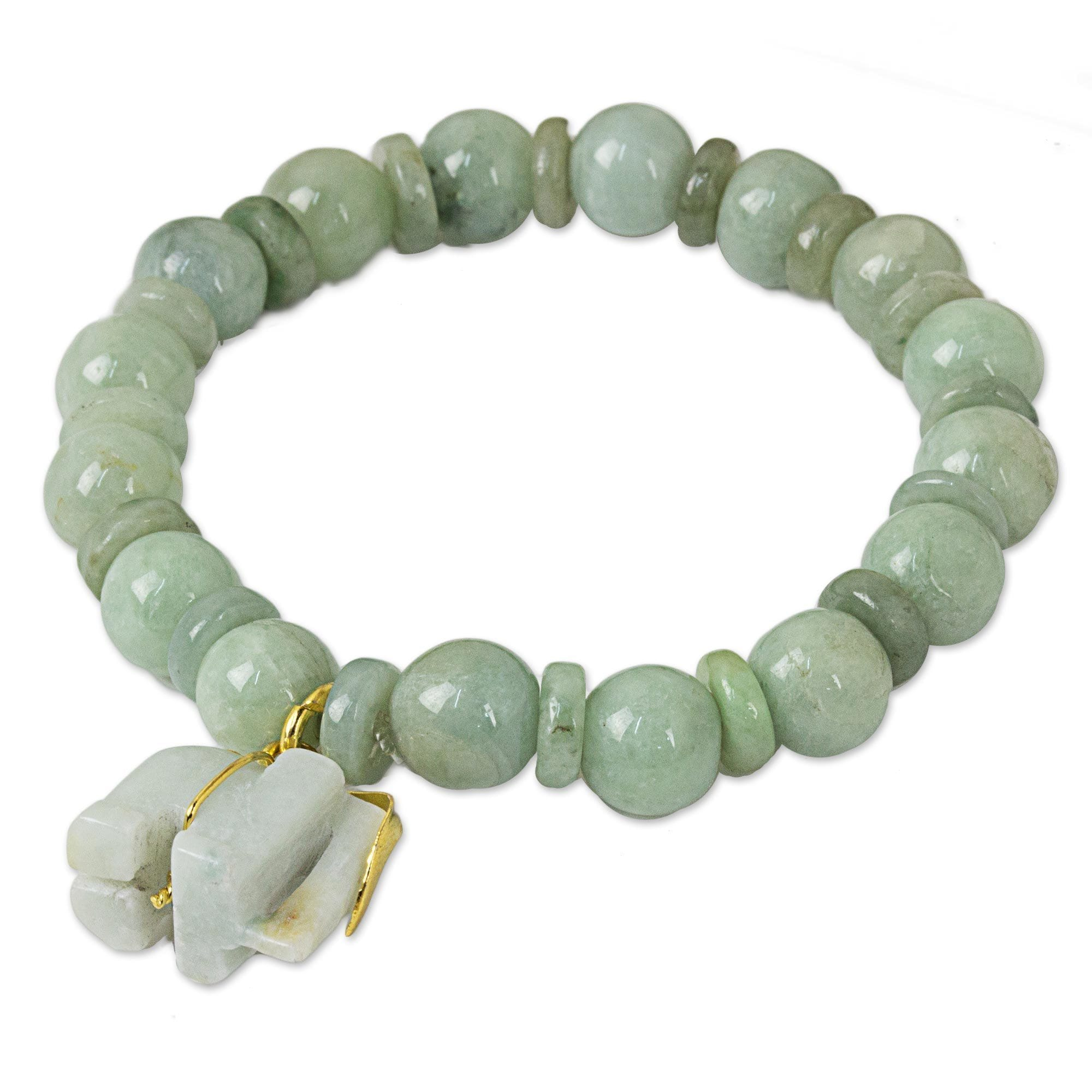 bracelet jade products tourmaline tiger green beads image meno la eye with tigereye unisex black agate