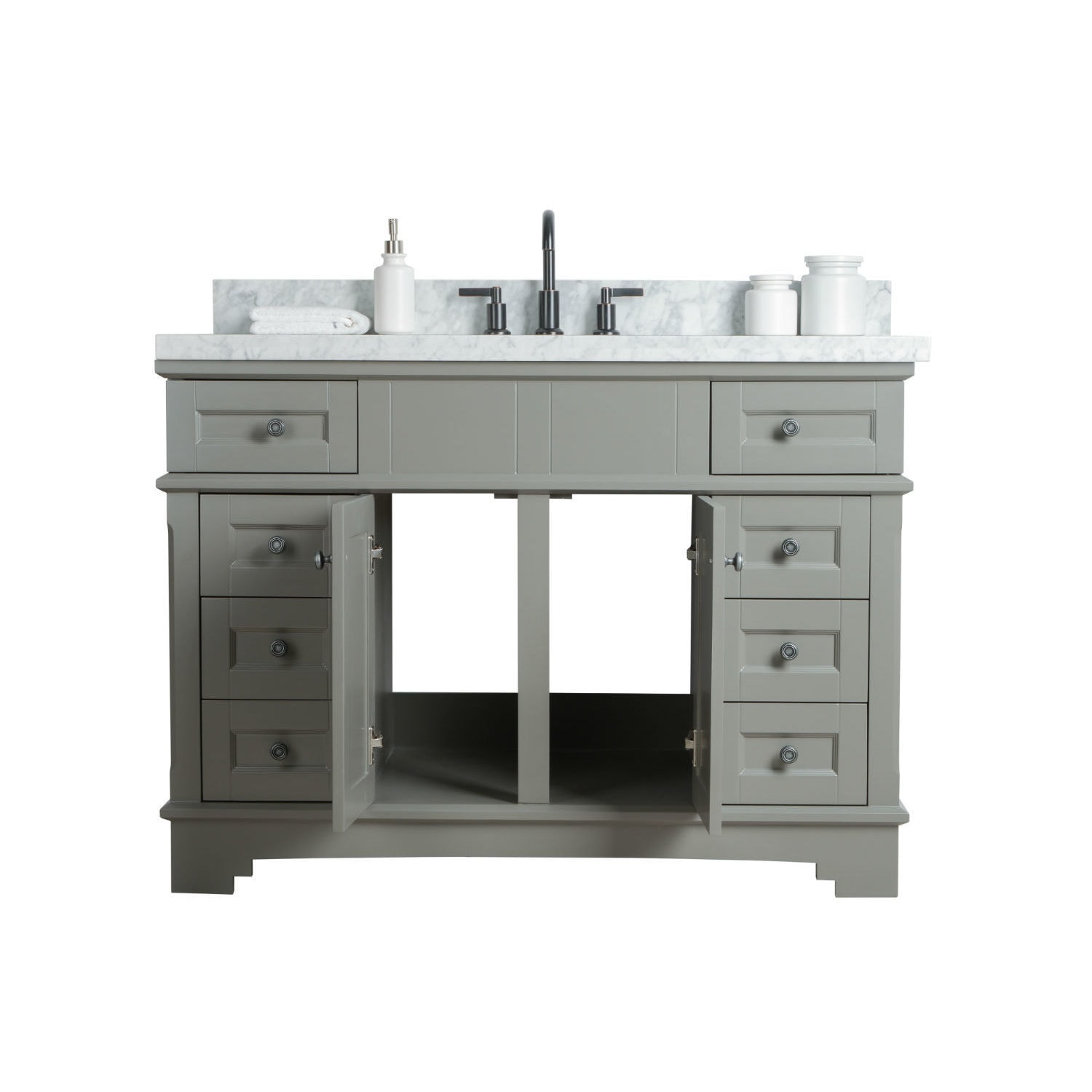 Legion Furniture Grey 48 Inch Sink Vanity With Mirror And Faucet Free Shipping Today 22553675