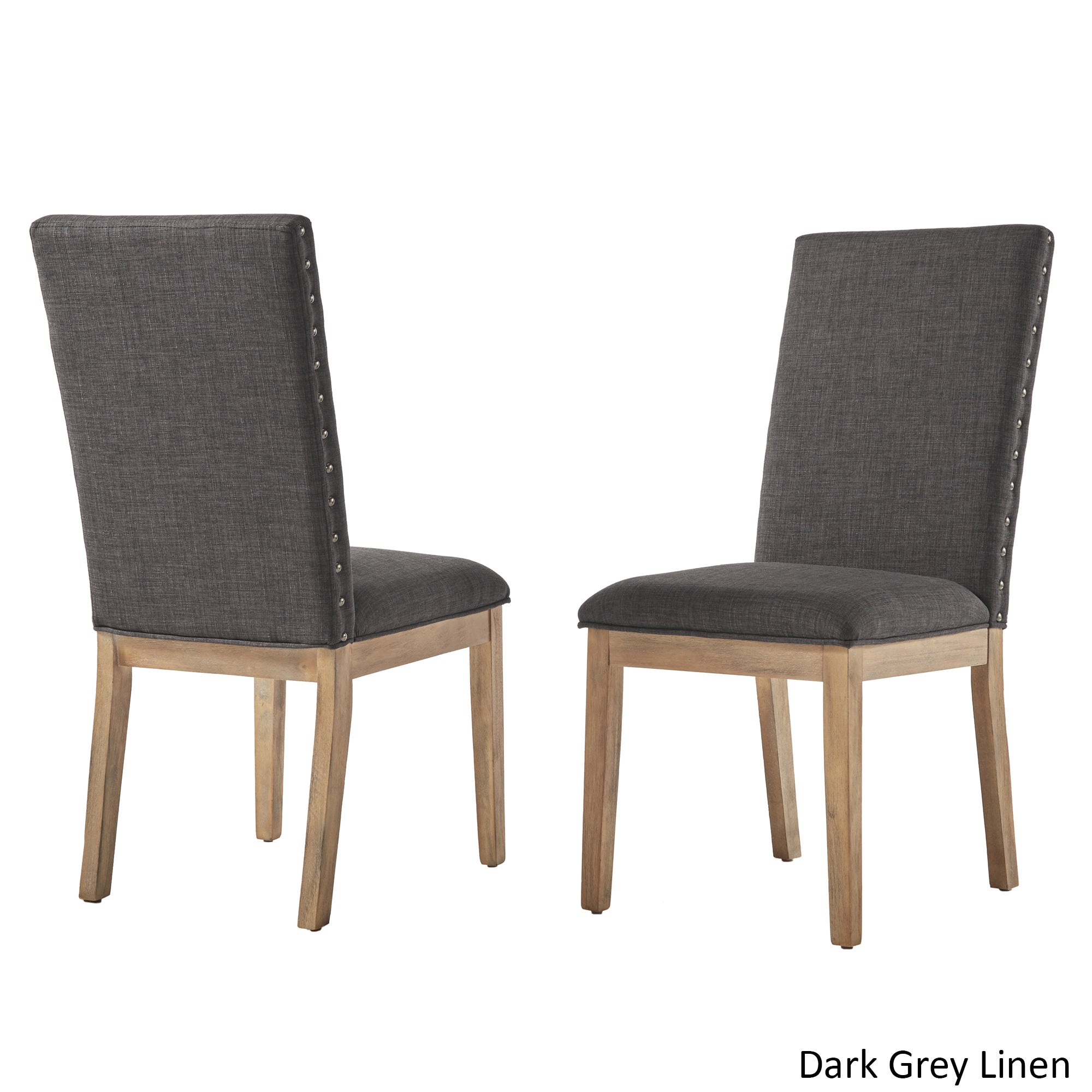 linen dining chairs ivory shop voyager nailhead accent parson linen dining chair set of 2 by inspire artisan on sale free shipping today overstockcom 16180074