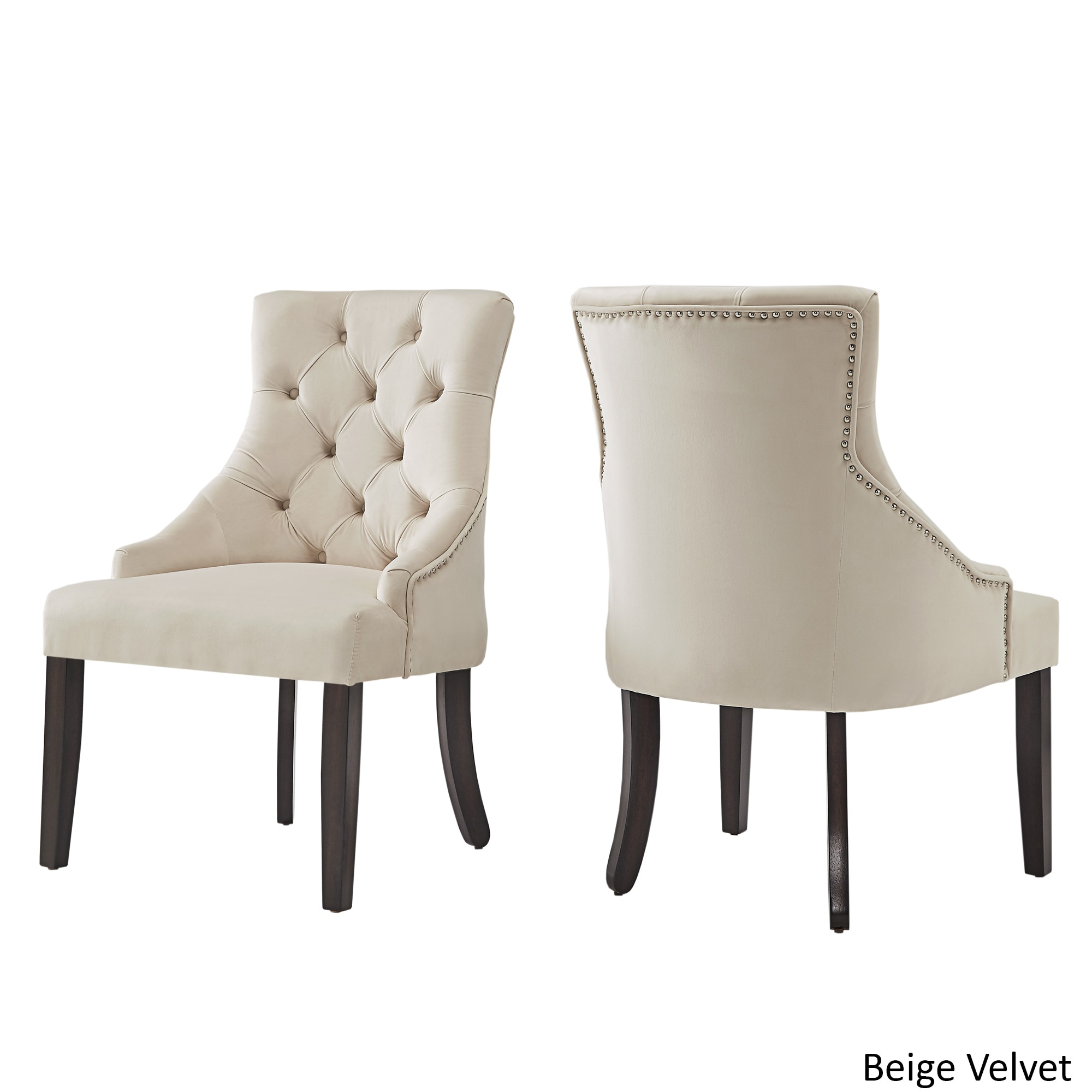 Shop Benchwright II Velvet Button Tufted Wingback Hostess Chairs (Set Of 2)  By INSPIRE Q Bold   On Sale   Free Shipping Today   Overstock.com   16180089