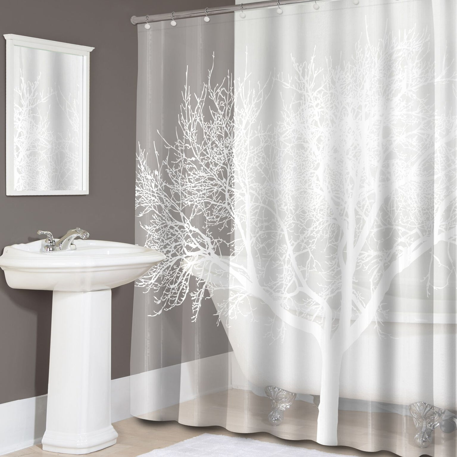 Delicieux Pearl Tree Print PEVA Shower Curtain   Free Shipping On Orders Over $45    Overstock   22553916
