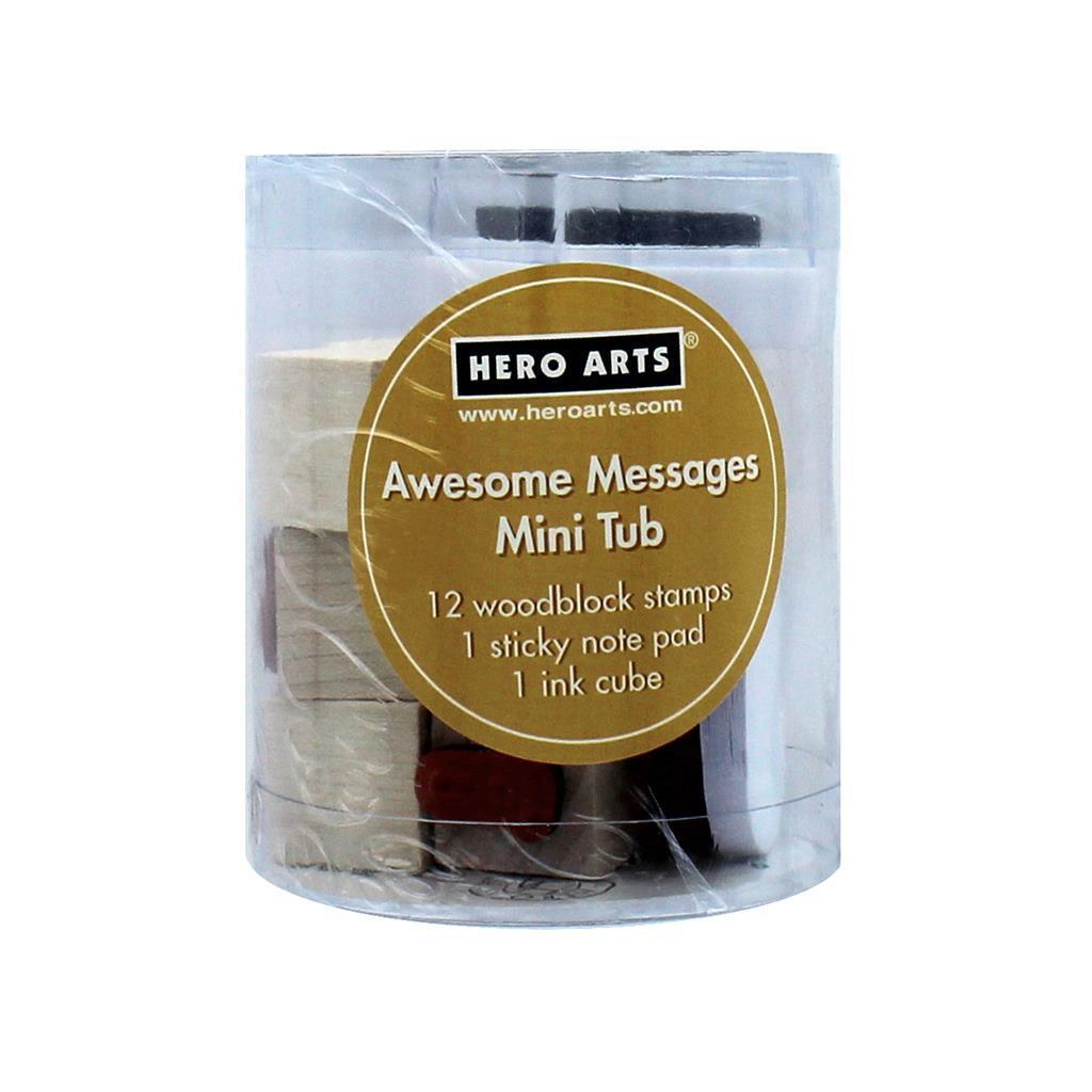 Hero Arts Rubber Stamp Mini Tub Awesome Mess - Free Shipping On ...