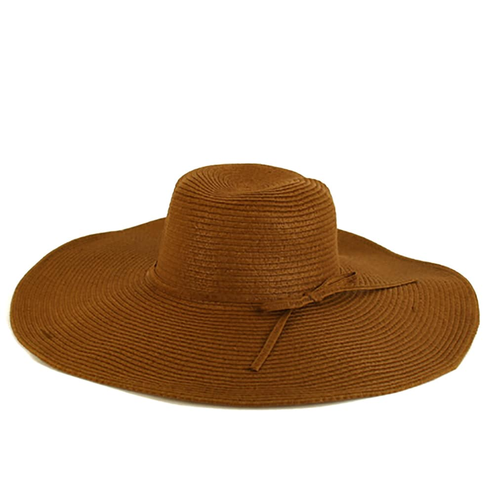 997883d1488bdf Shop Pop Fashionwear Women's Cool Summer Floppy Wide Brim Straw Hat - Free  Shipping On Orders Over $45 - Overstock - 16180645