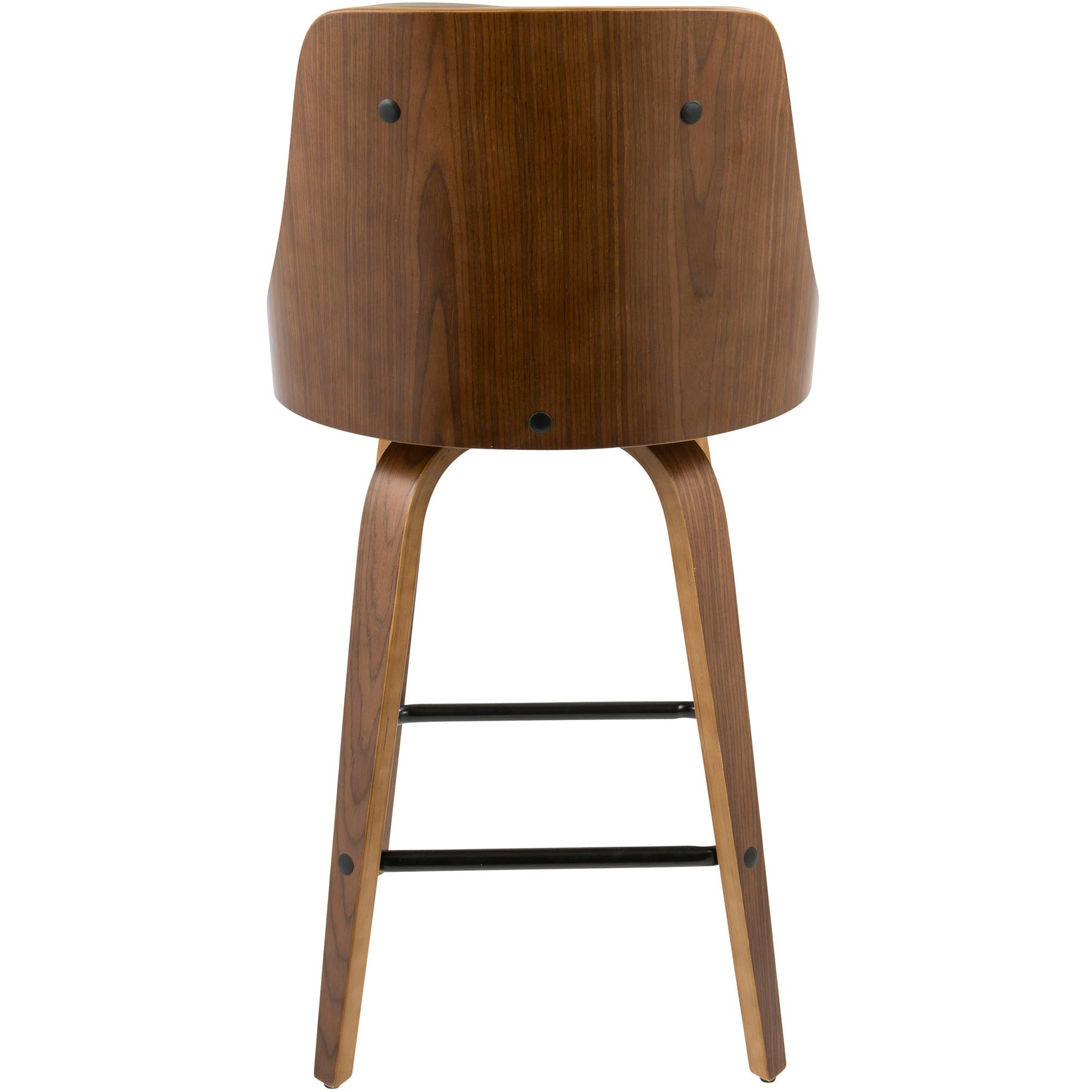 Shop gianna 26 mid century modern counter stool in walnut and faux leather on sale ships to canada overstock ca 16180813