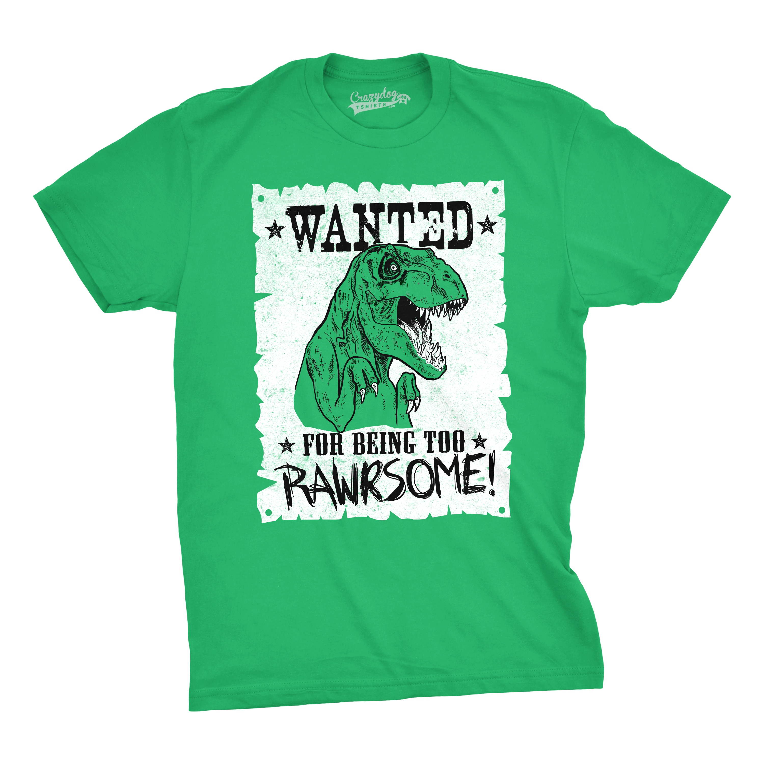 29032b8e4 Shop Mens Wanted For Being Too Rawrsome Funny T-Rex Dinosaur T shirt - Free  Shipping On Orders Over $45 - Overstock - 16181587