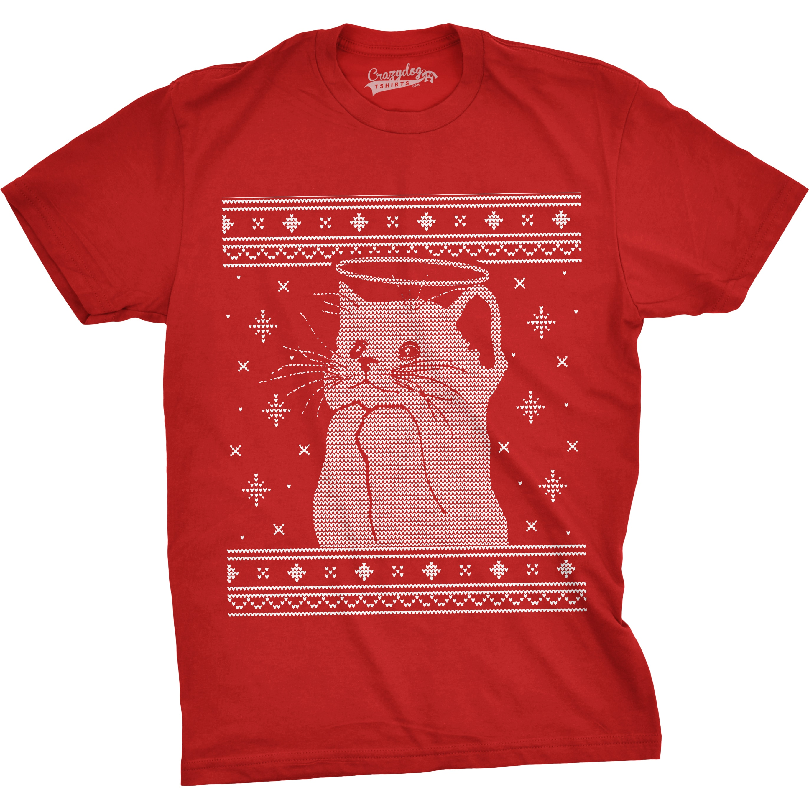 Shop Mens Halo Kitty Ugly Christmas Sweater Funny Kitten Holiday T ...