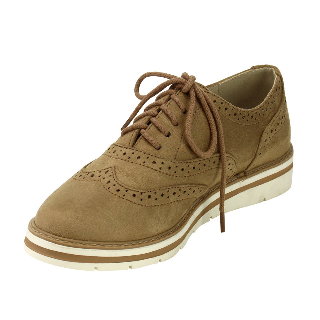 Soda IG04 Women's Lace Up Perforated Wingtip Stitched Dress Oxfords - Free  Shipping On Orders Over $45 - Overstock.com - 22557580