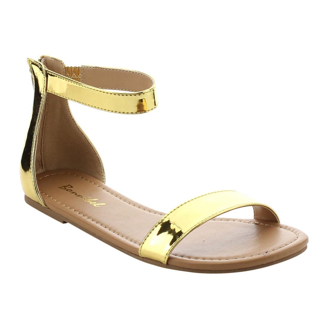 Essentials Womens Single Band Flat Sandal