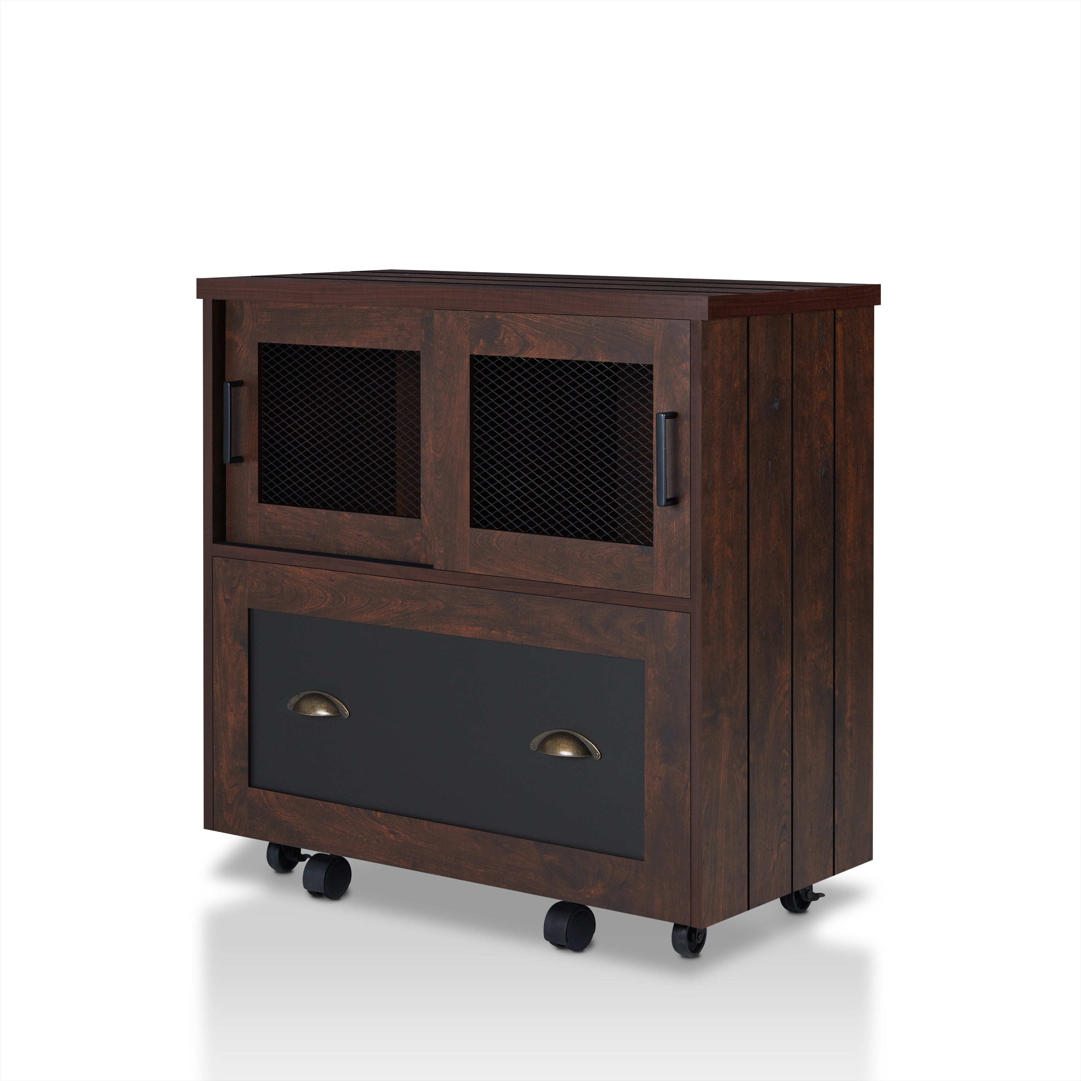 Shop Furniture Of America Gena Industrial 1 Drawer Vintage Walnut File  Cabinet   Free Shipping Today   Overstock.com   16184374