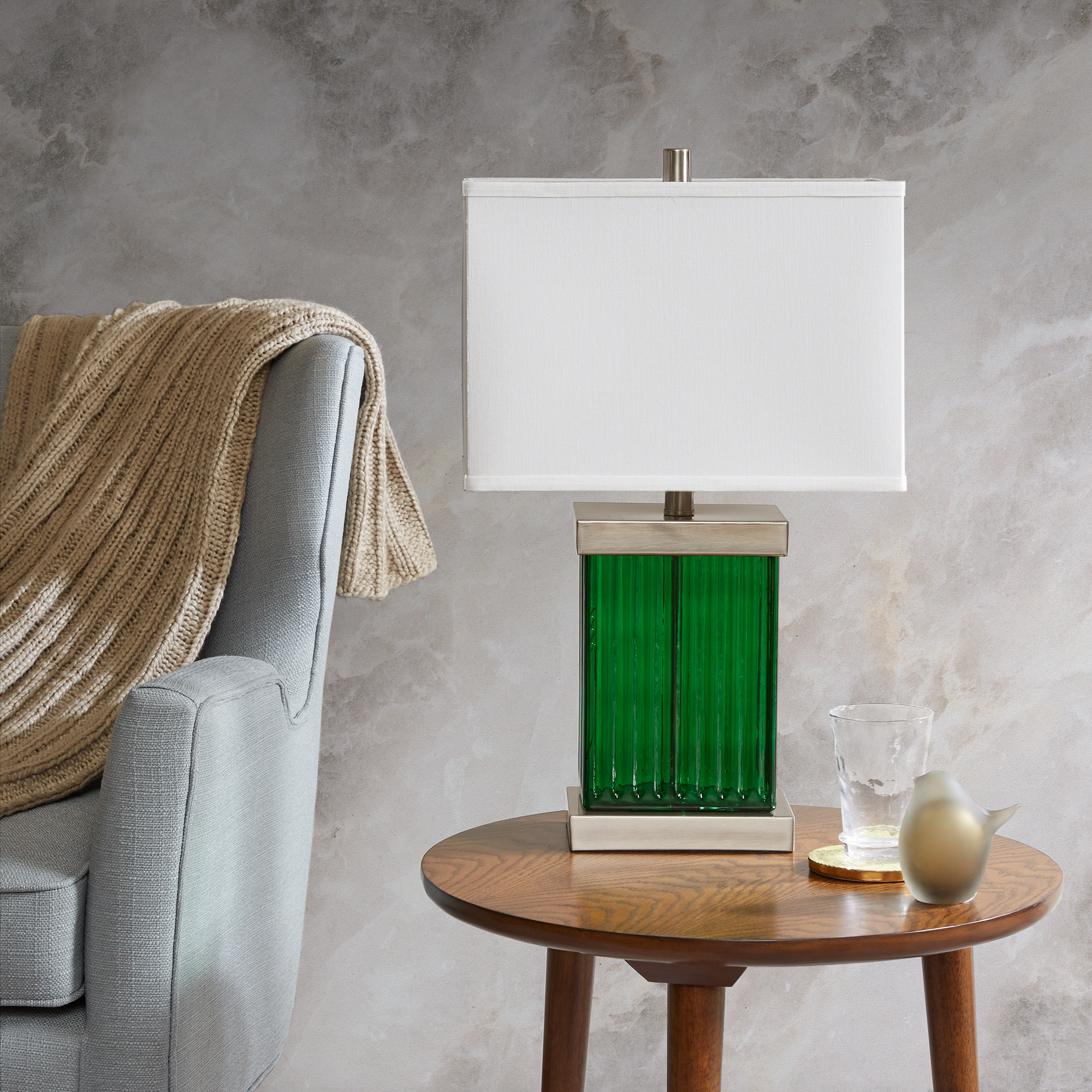 Shop Madison Park Emerald Green Table Lamp On Sale Free Shipping
