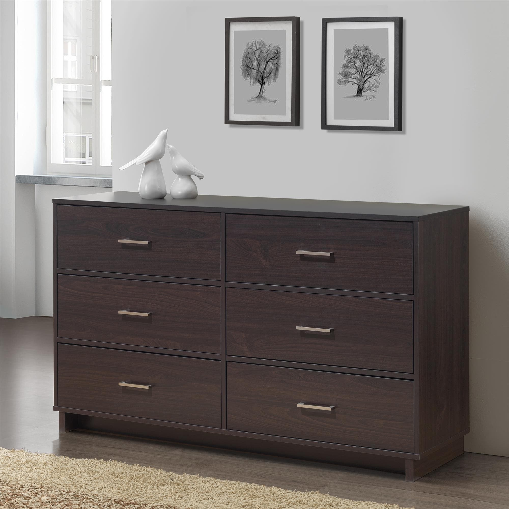 bernie furniture drawer s modern phyl dresser dressers american bedroom mocha