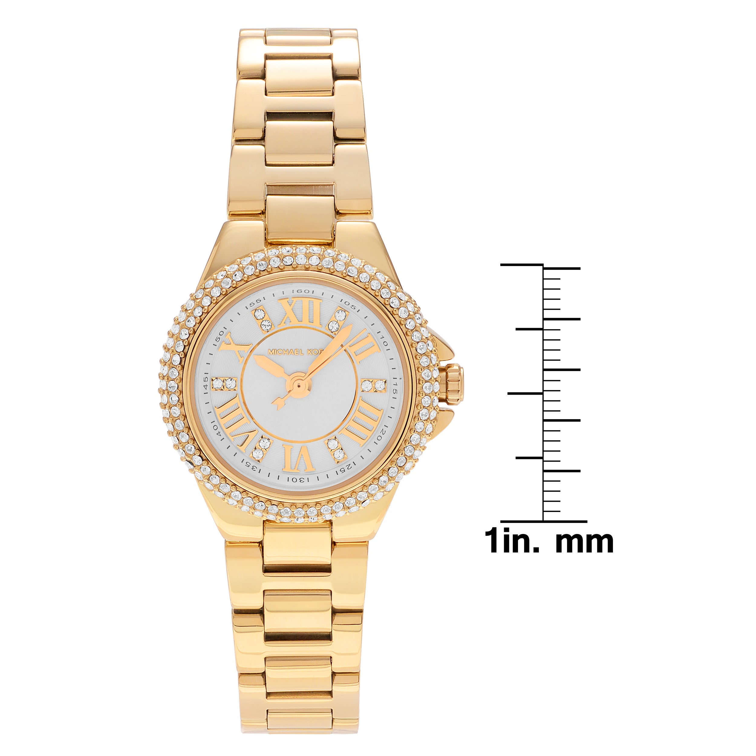 d19c69f0f Shop Michael Kors Women's MK3653 'Petite Camille' Goldtone Stainless Steel  Crystal Link and Slider Bracelet Watch Set - Gold - Free Shipping Today ...