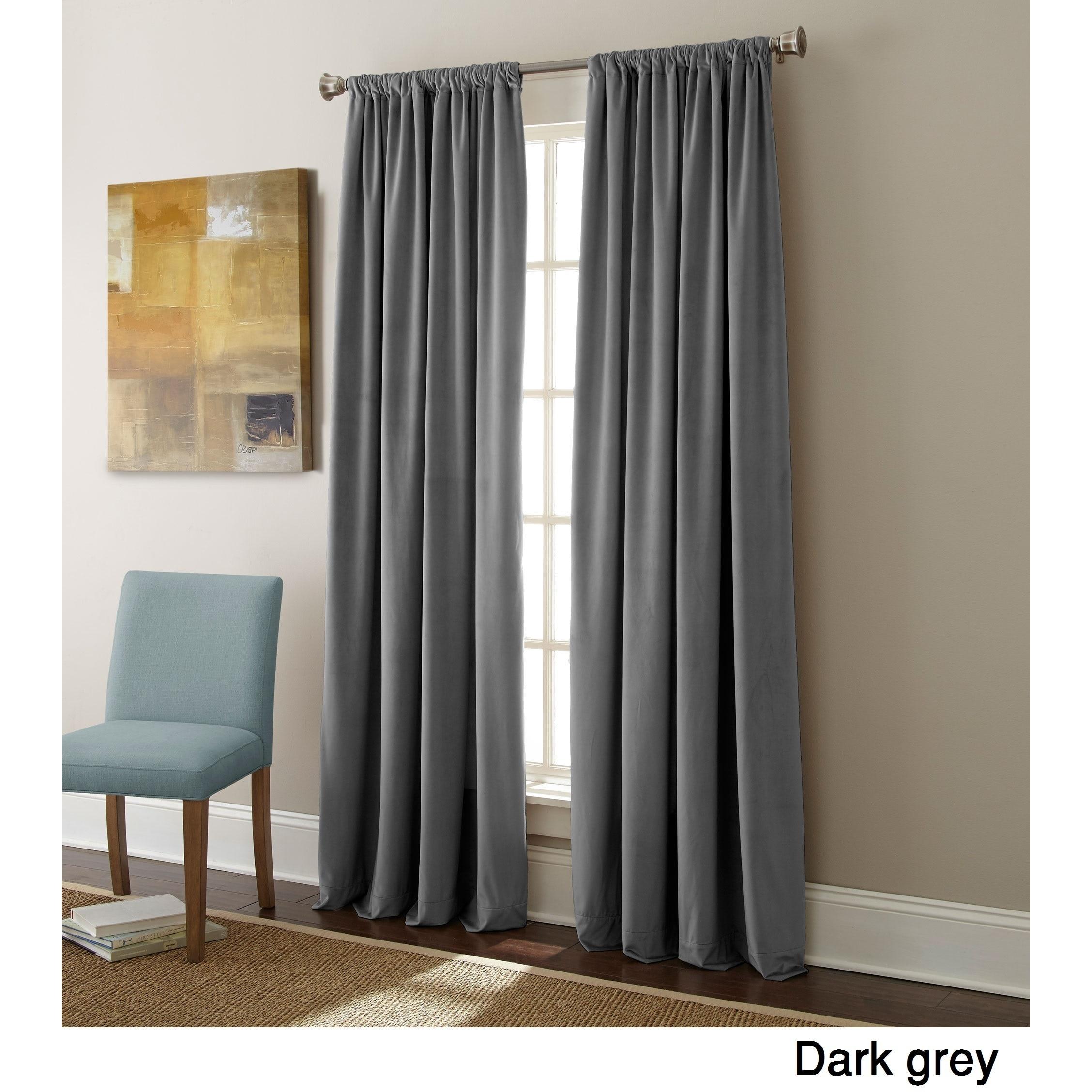 Shop Sherry Kline Elite Velvet 84-inch Curtain Panel Pair - N/A ...