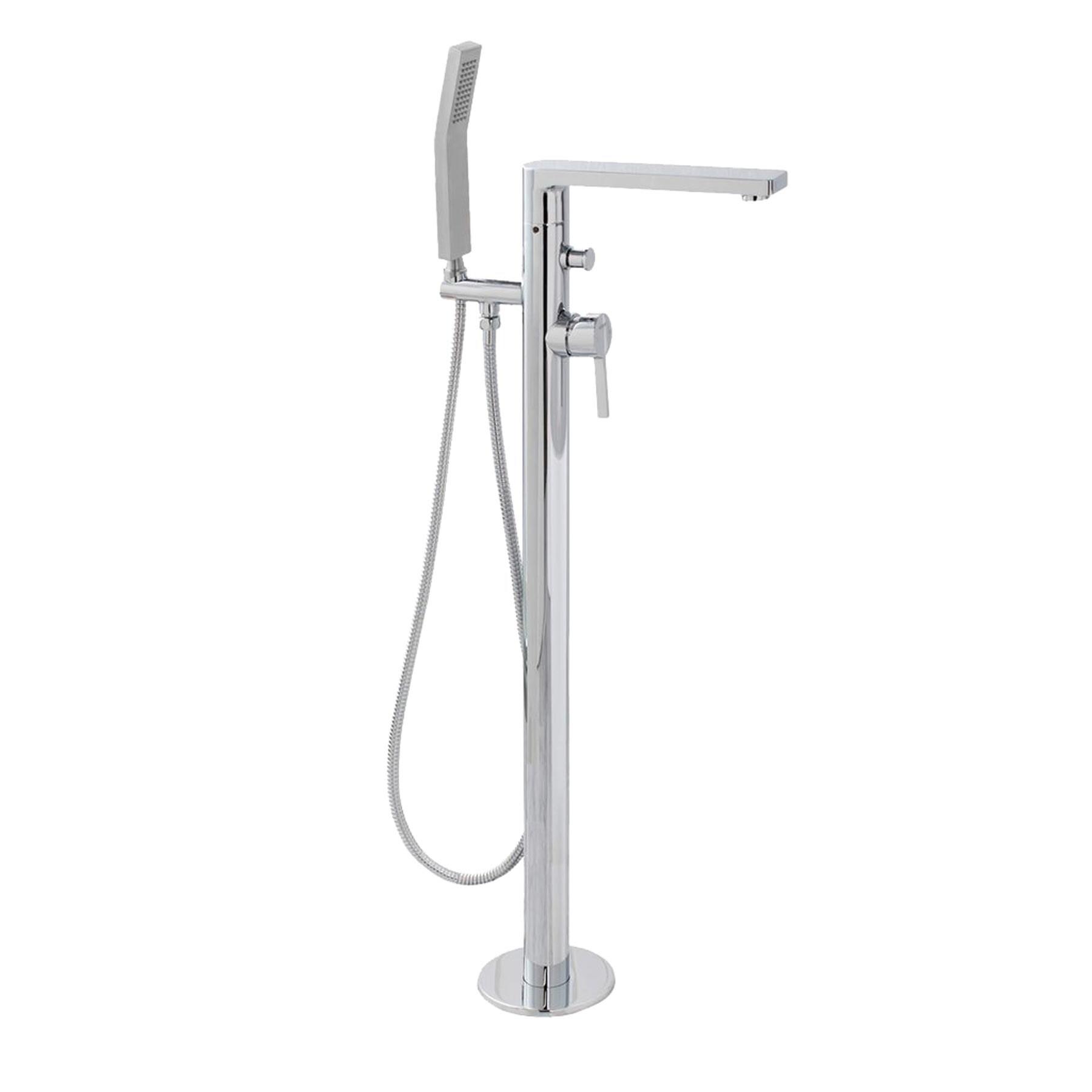 Maykke Friedrich Freestanding Single Lever Bathtub Faucet, Polished ...