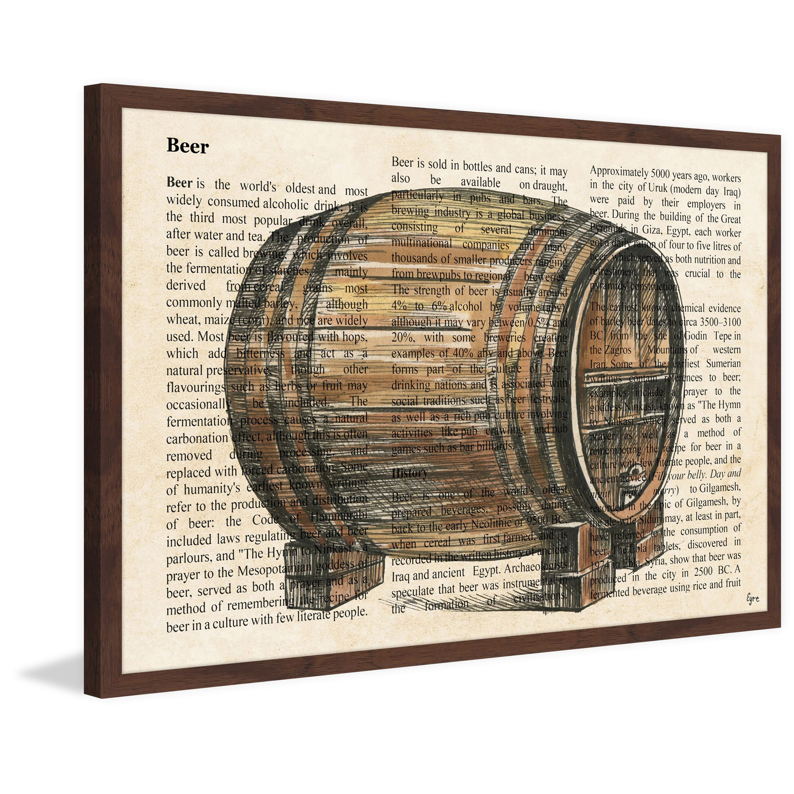 'Mother of the Beer' Framed Painting Print