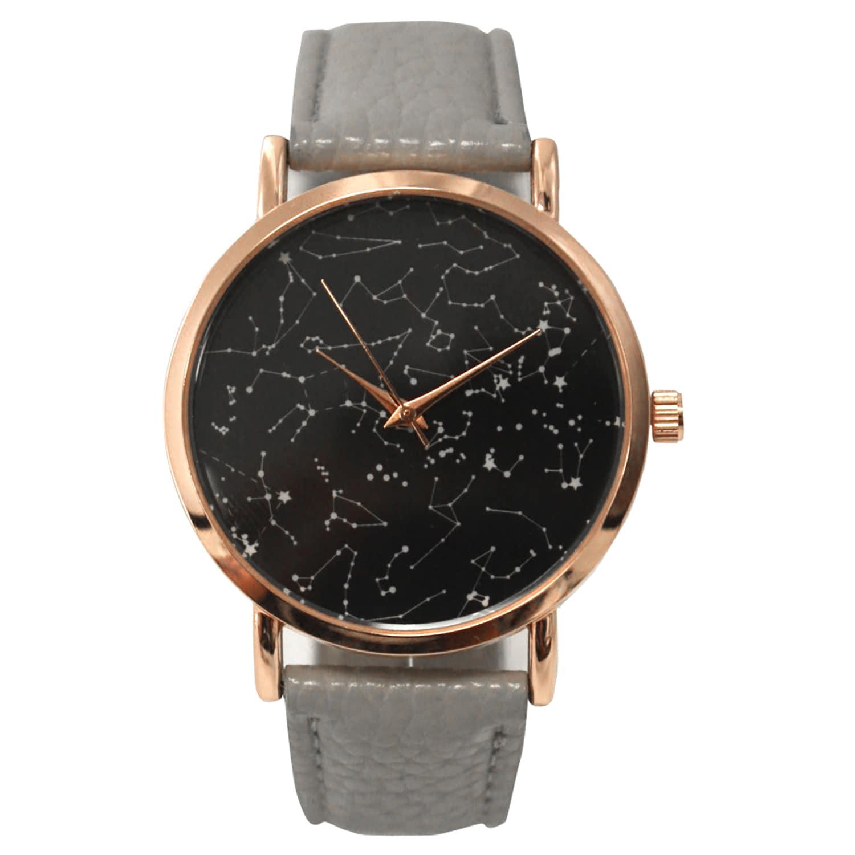 Shop Olivia Pratt Women\'s Constellaion Map Leather Watch One Size ...