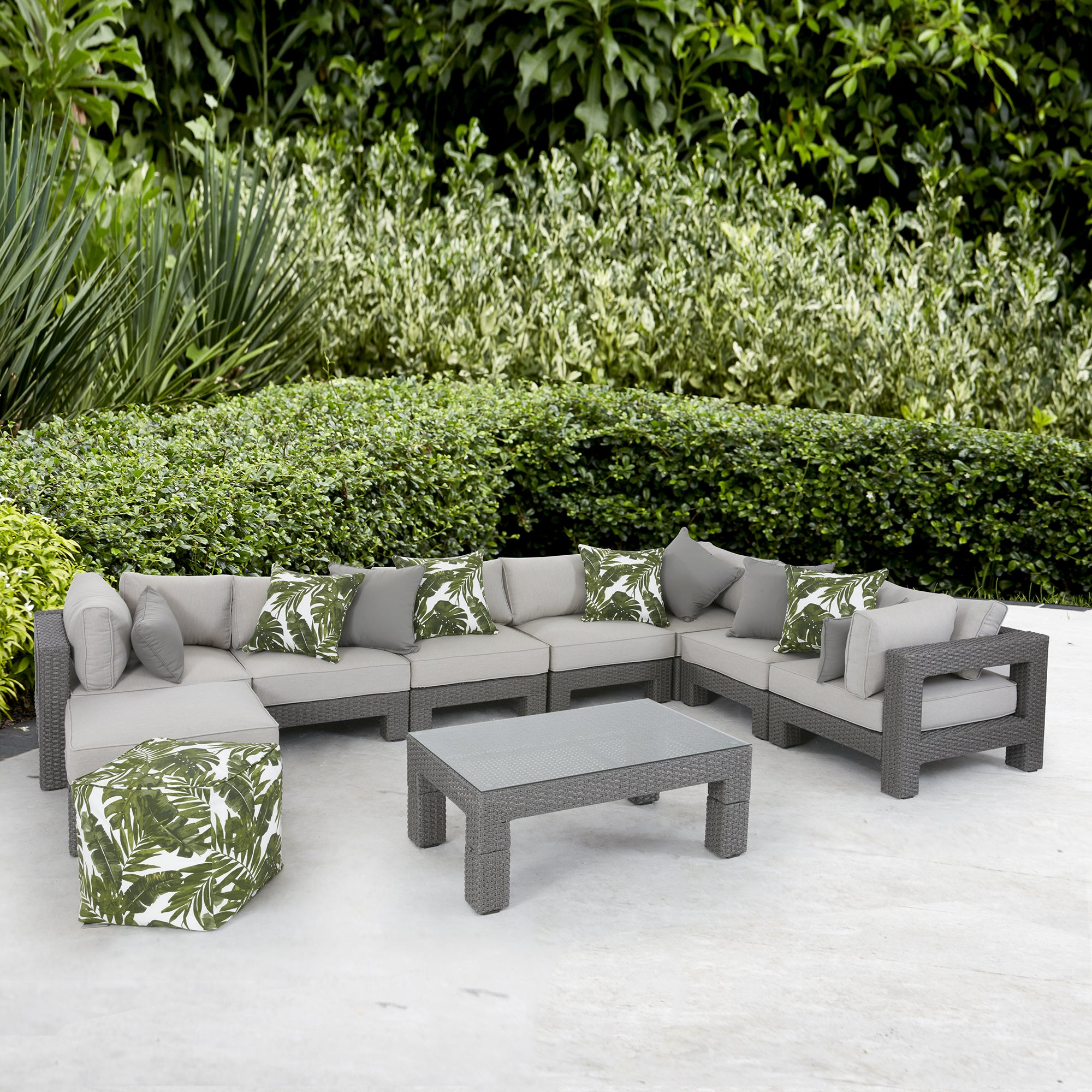 Madison Park Perry Light Grey Outdoor Lounge Chair - Free Shipping ...