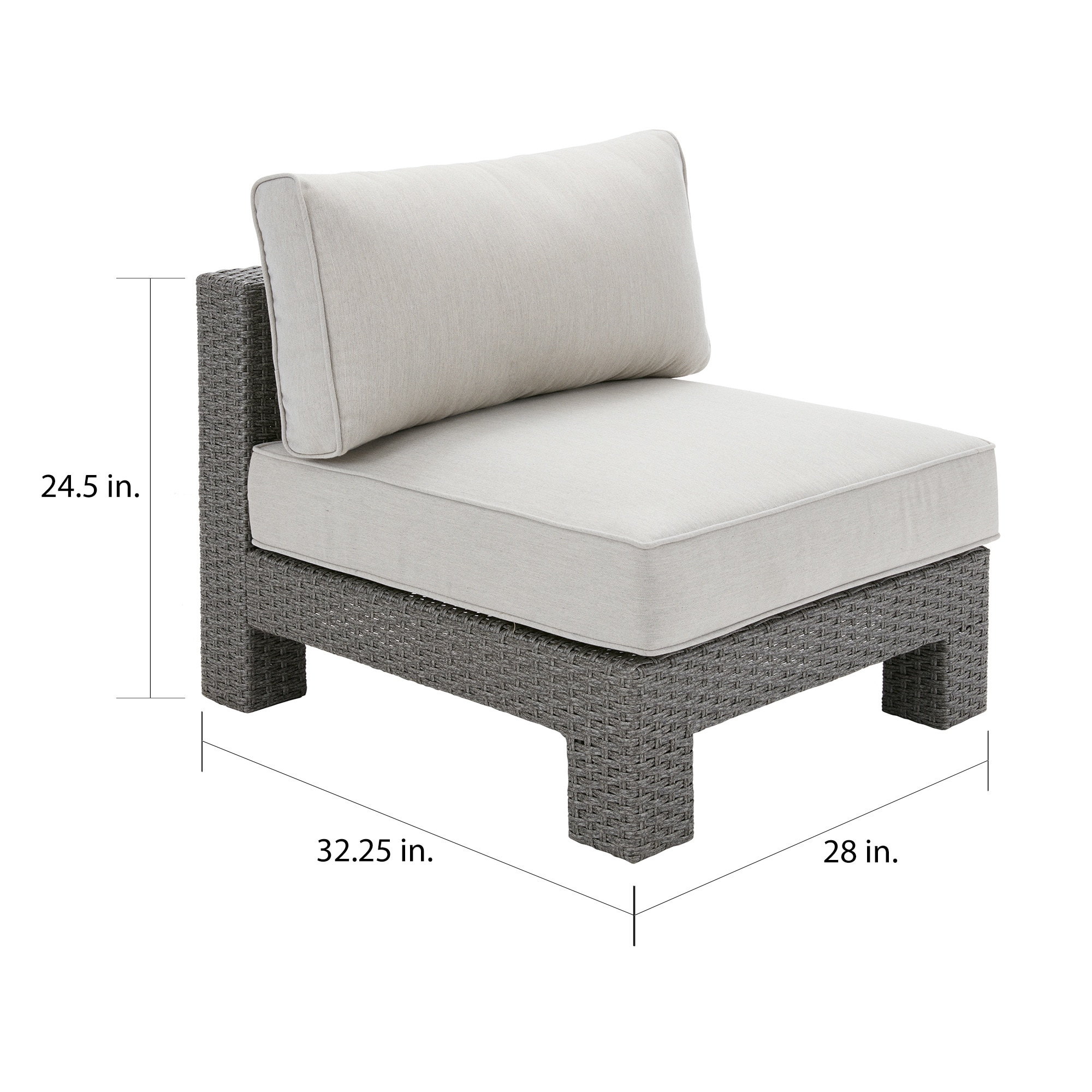 Beau Shop Madison Park Perry Light Grey Outdoor Lounge Chair   On Sale   Free  Shipping Today   Overstock.com   16258563
