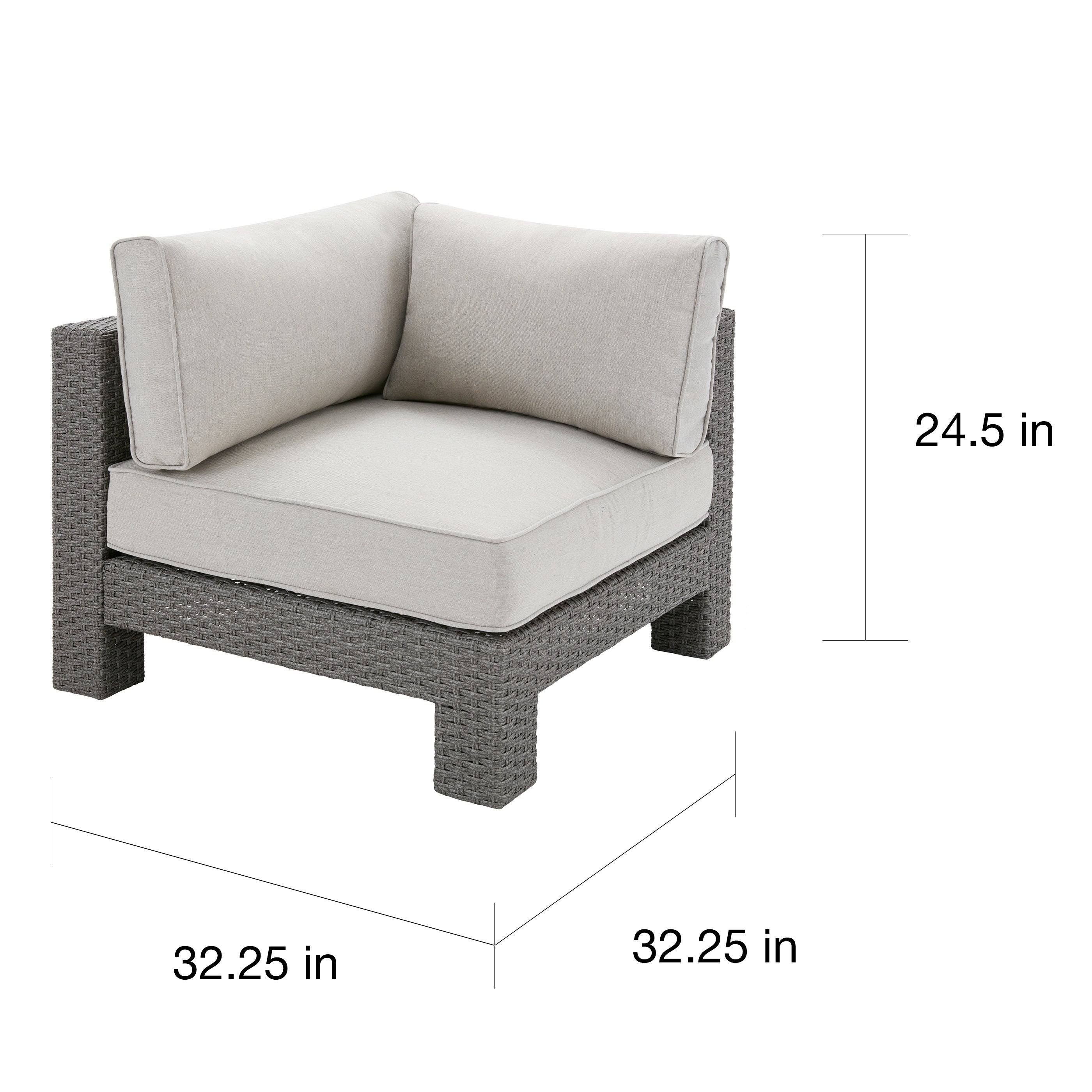 Attirant Shop Madison Park Perry Light Grey Patio Corner Sectional Chair   Free  Shipping Today   Overstock.com   16258565