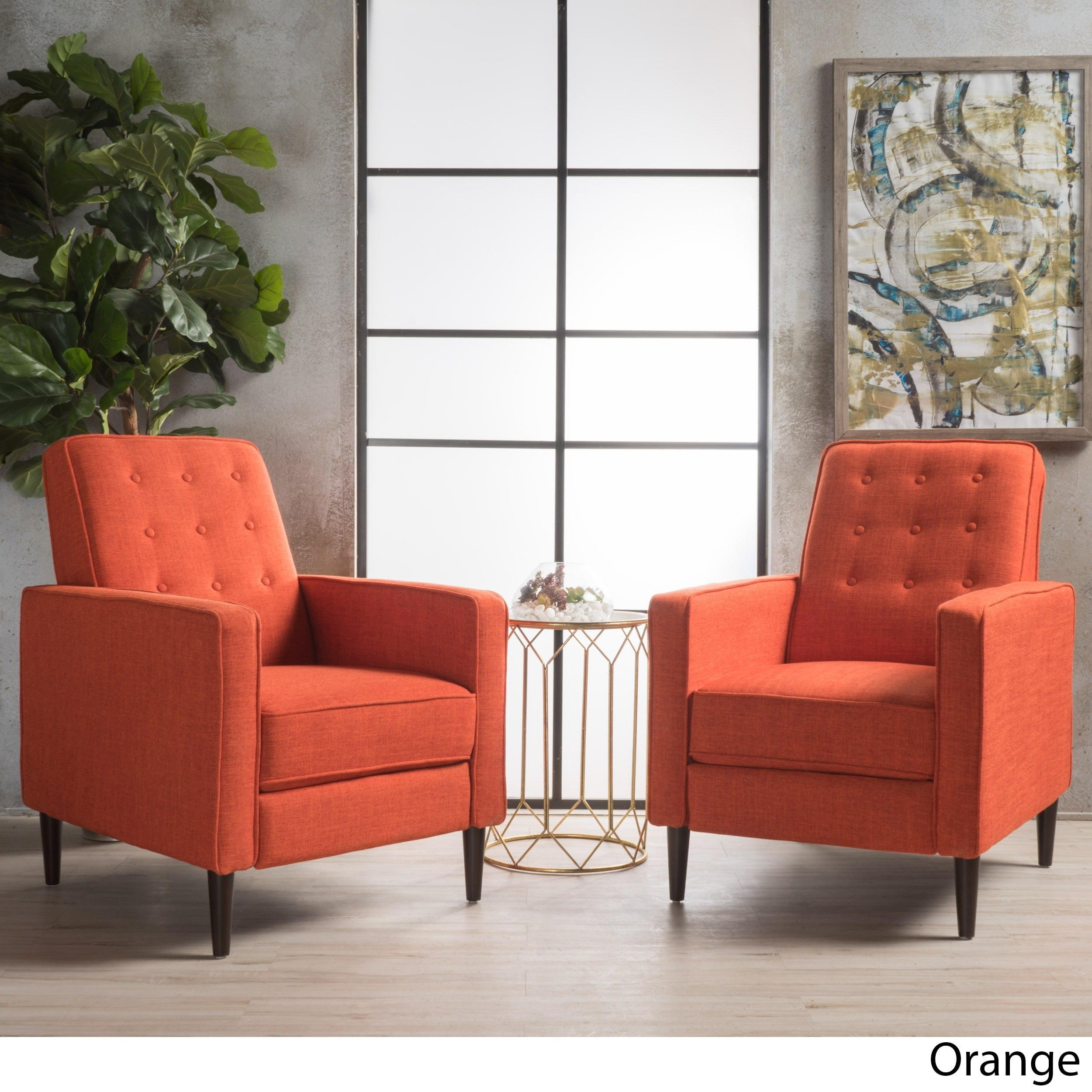 Mervynn Mid Century Fabric Recliner Club Chair Set Of 2 By Christopher Knight Home On Free Shipping Today 20603810
