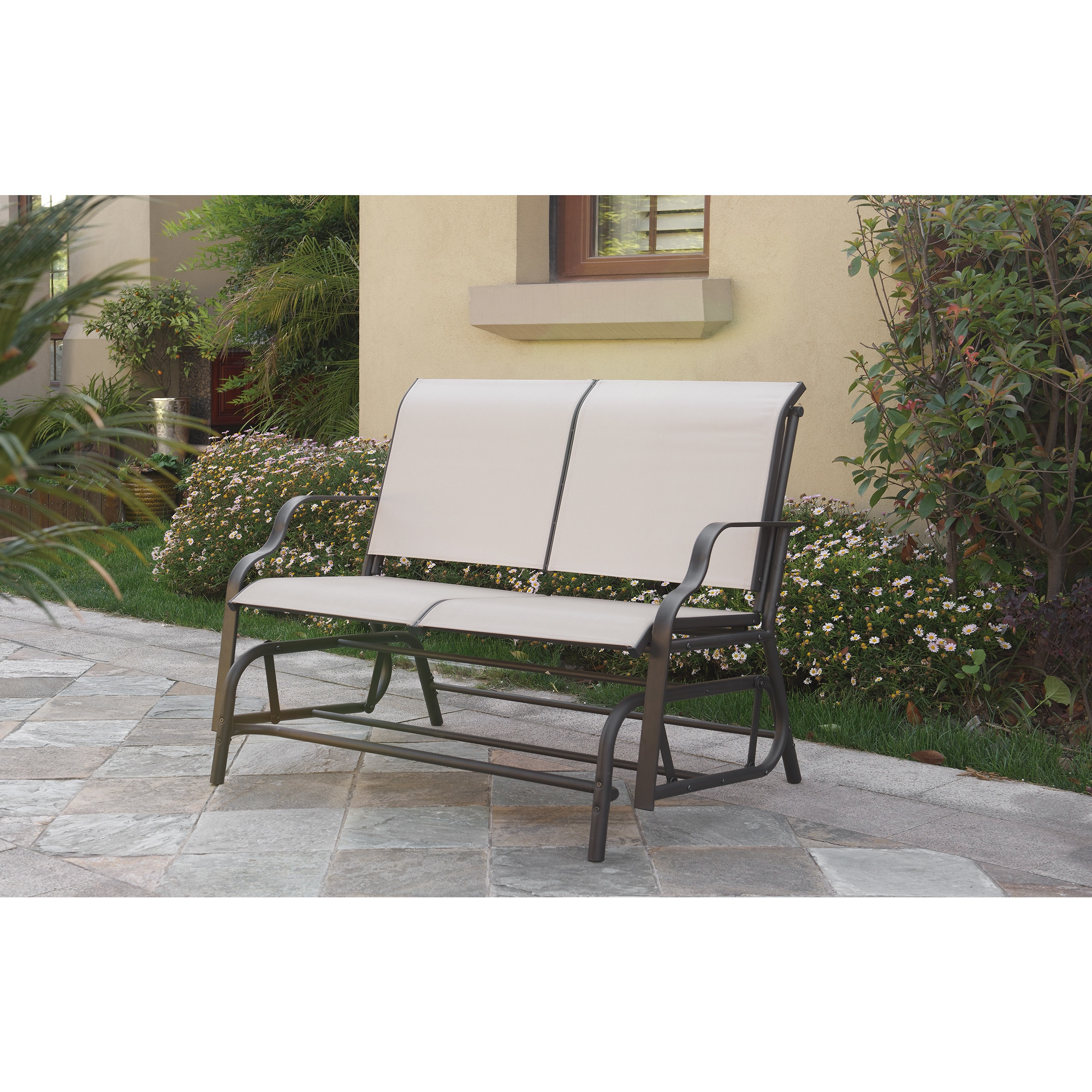 and textoline outdoor duo with vonhaus itm adjoining bench sentinel garden twin jill grey table patio jack loveseat seat companion