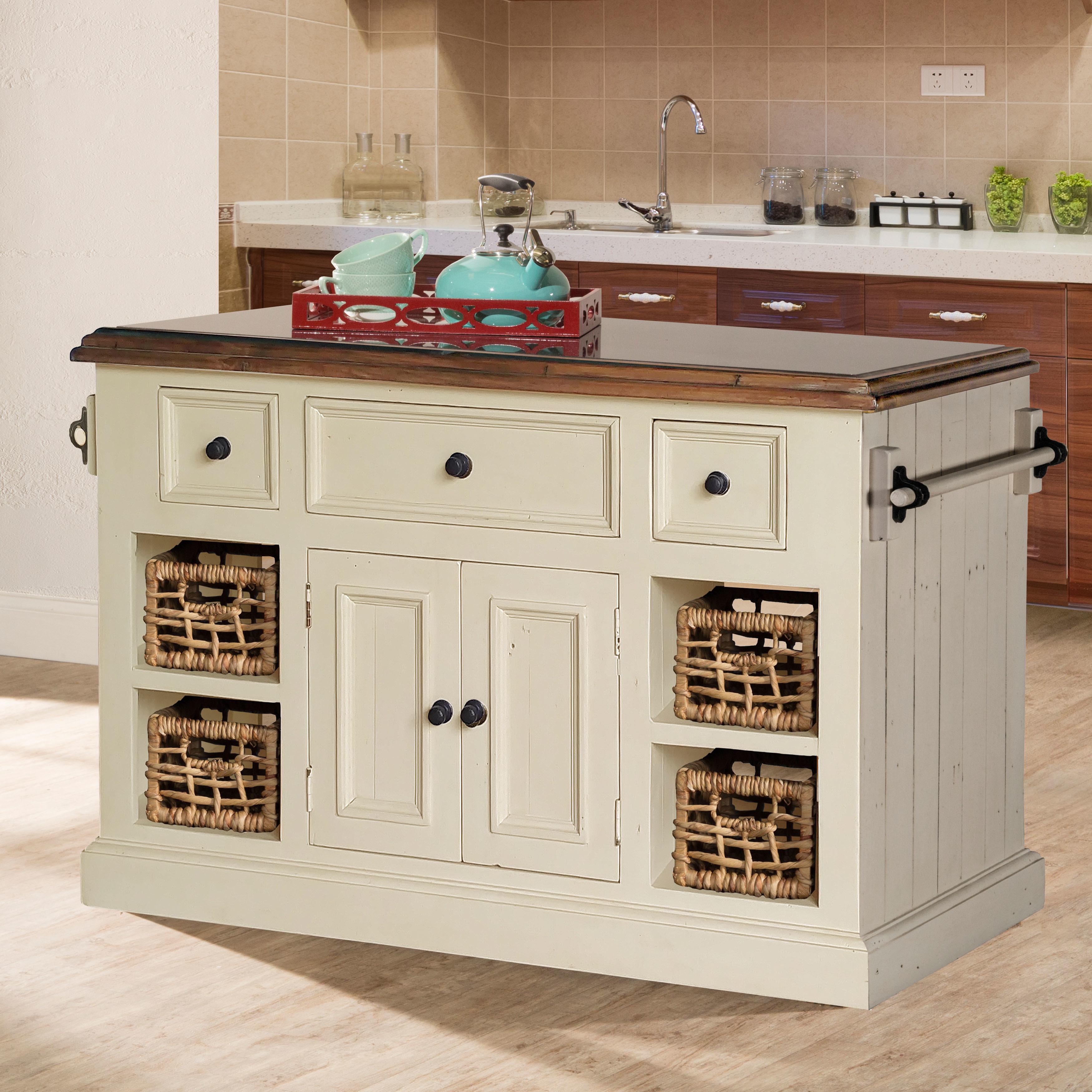 Havenside Home Mendocino Large White Finished Granite Top Kitchen ...