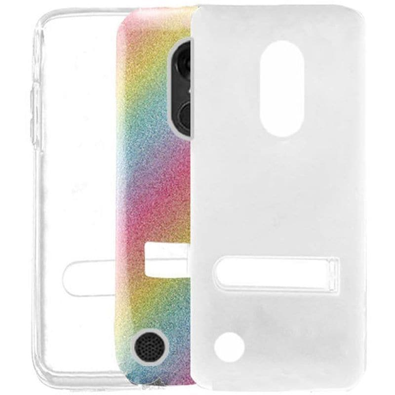 283044ac49e18 Insten Colorful Rainbow Hard Snap-on Glitter Case Cover with Stand For LG  Aristo/ K8 (2017)