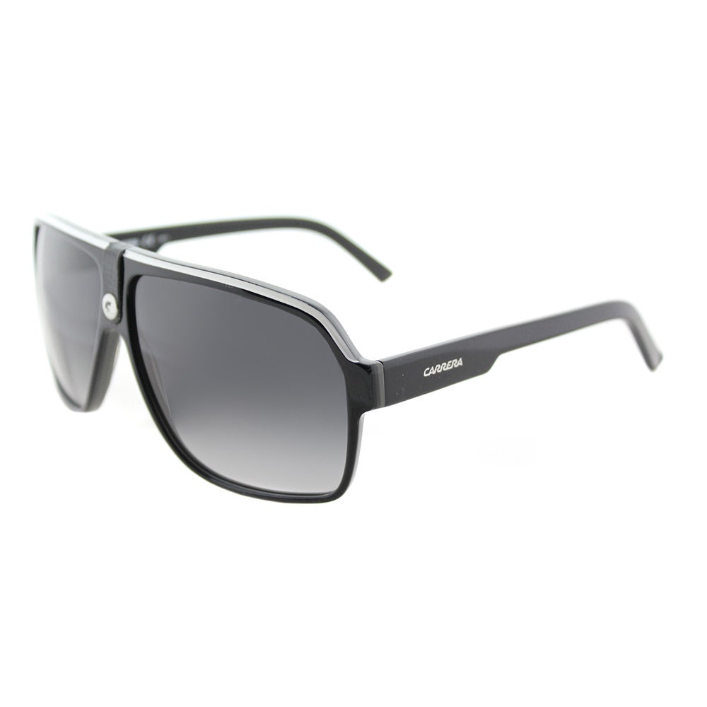8b660b2fcb Carrera Carrera 33 S 8V6 9O Black Crystal Grey Plastic Aviator Sunglasses  Dark Grey Gradient Lens