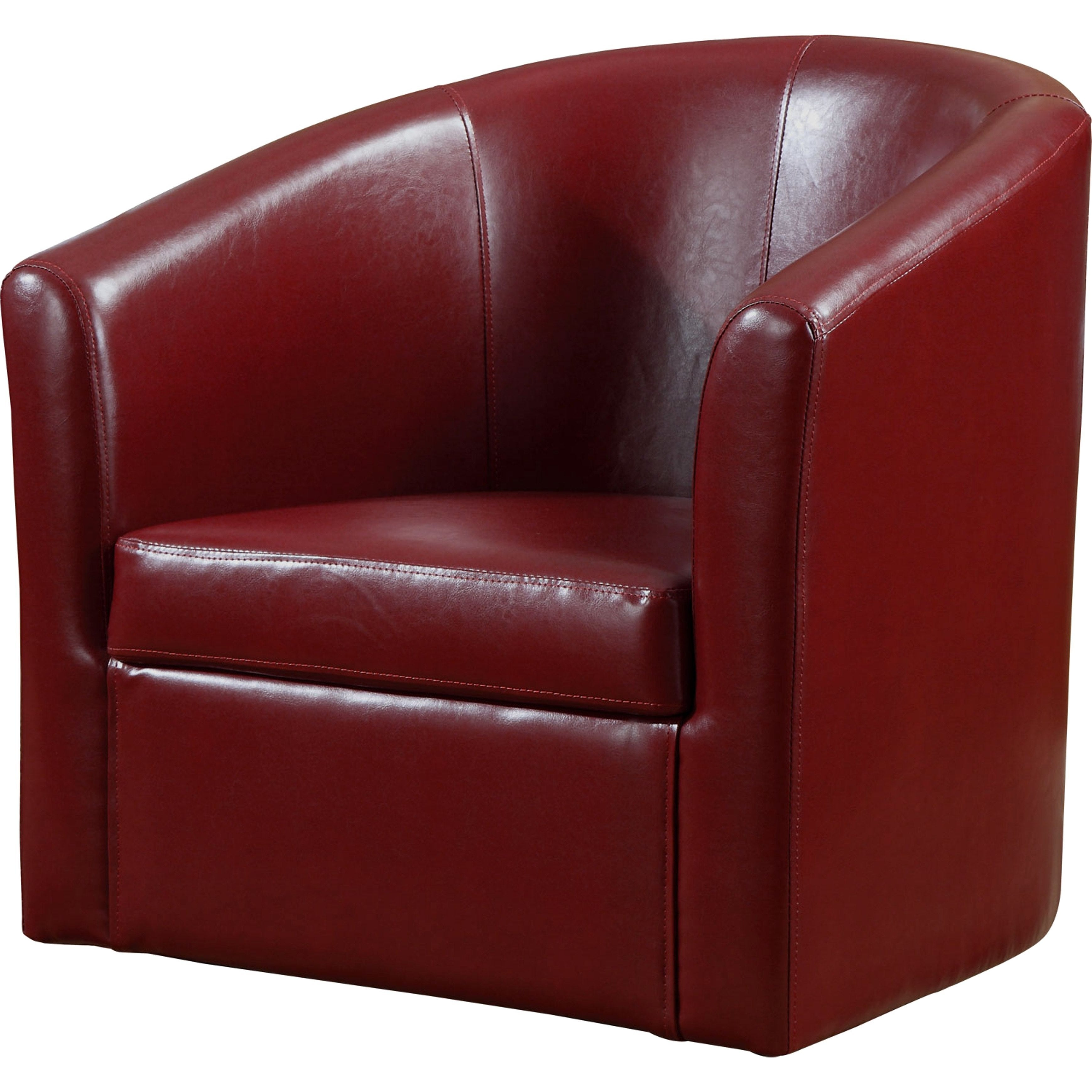 Shop Living Room Barrel Style Red Upholstered Swivel Accent Chair   Free  Shipping Today   Overstock.com   16287364