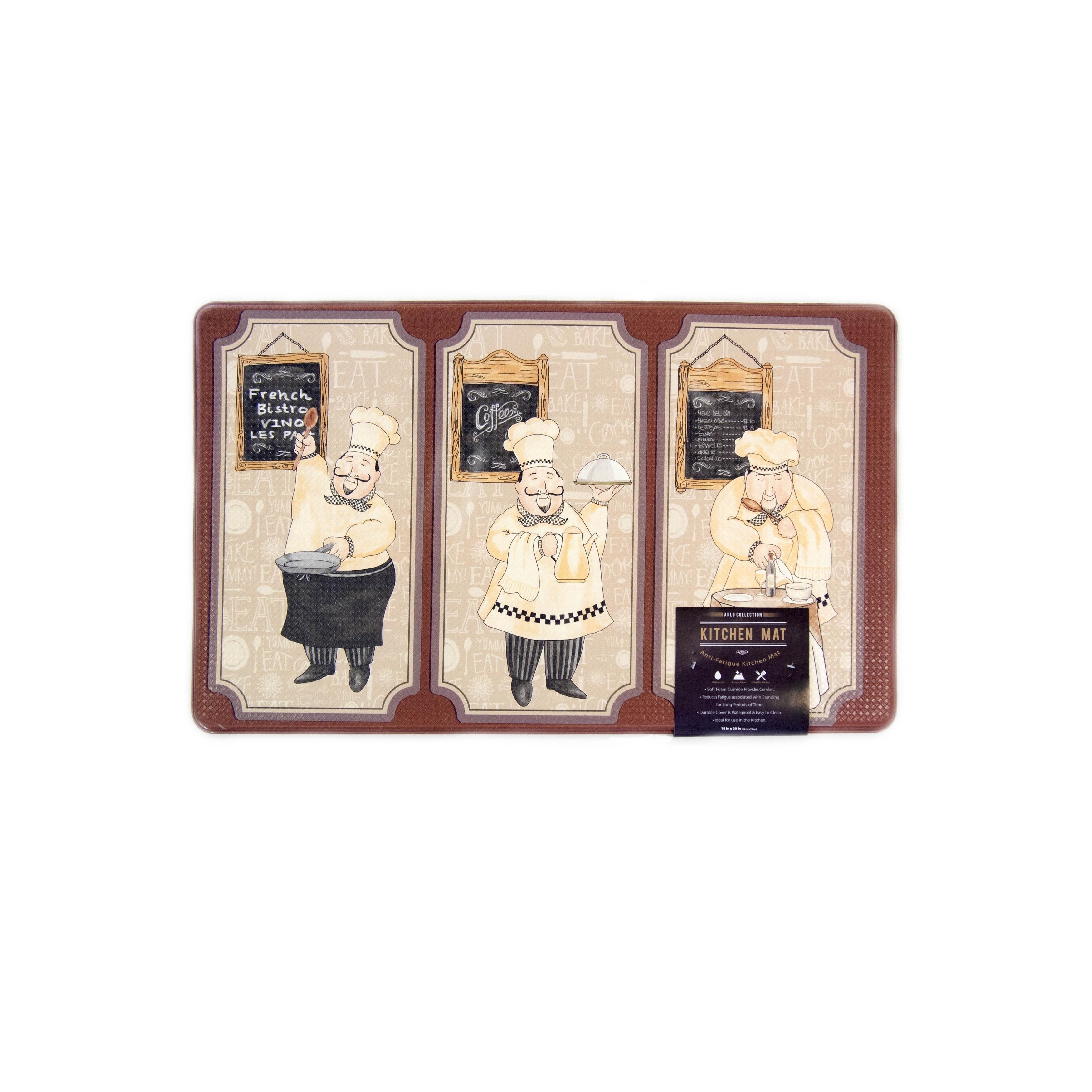 Home Fashion Designs Arlo Collection Printed Anti-Fatigue Kitchen ...