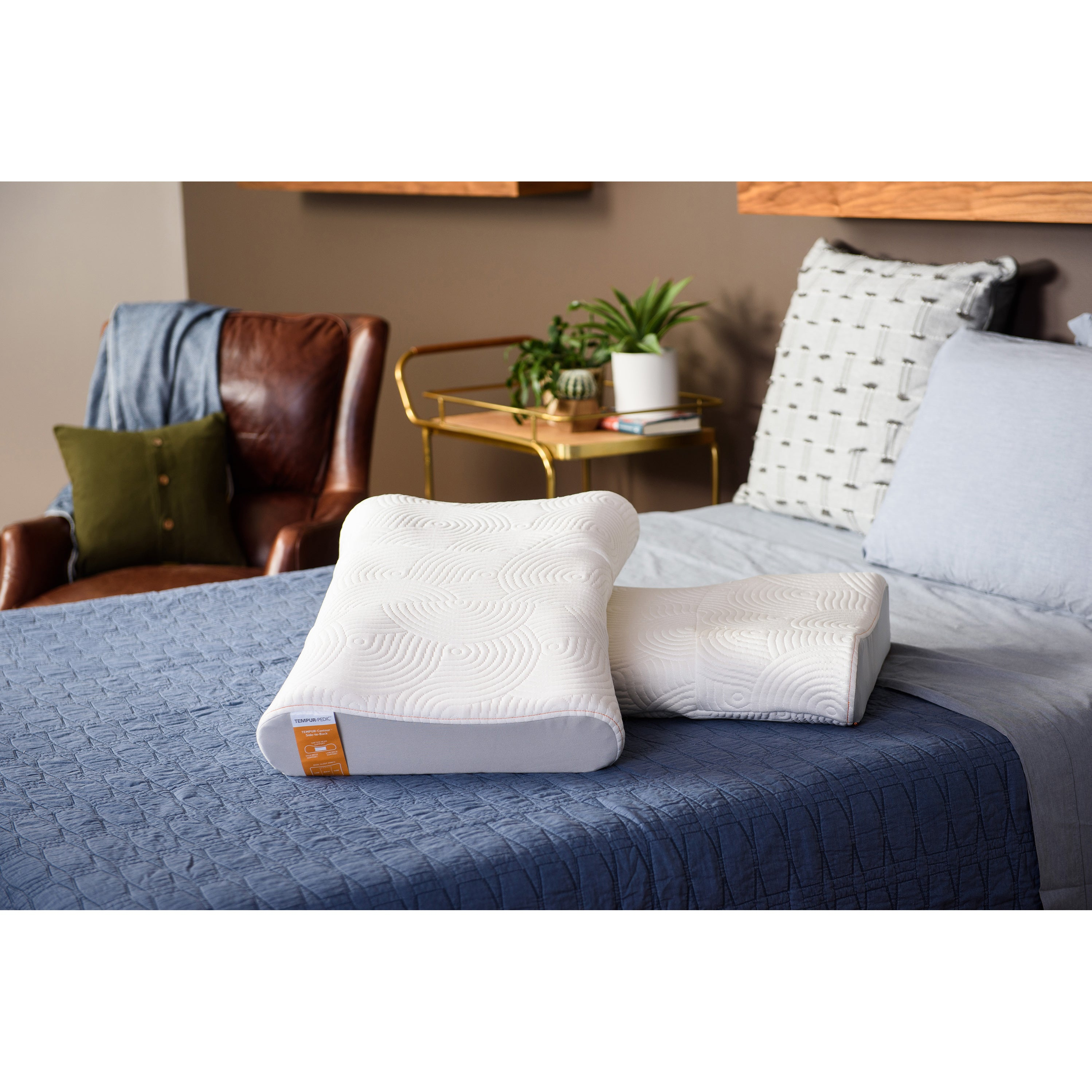TEMPUR-Contour Side-to-Back Memory Foam Pillow - Free Shipping ...