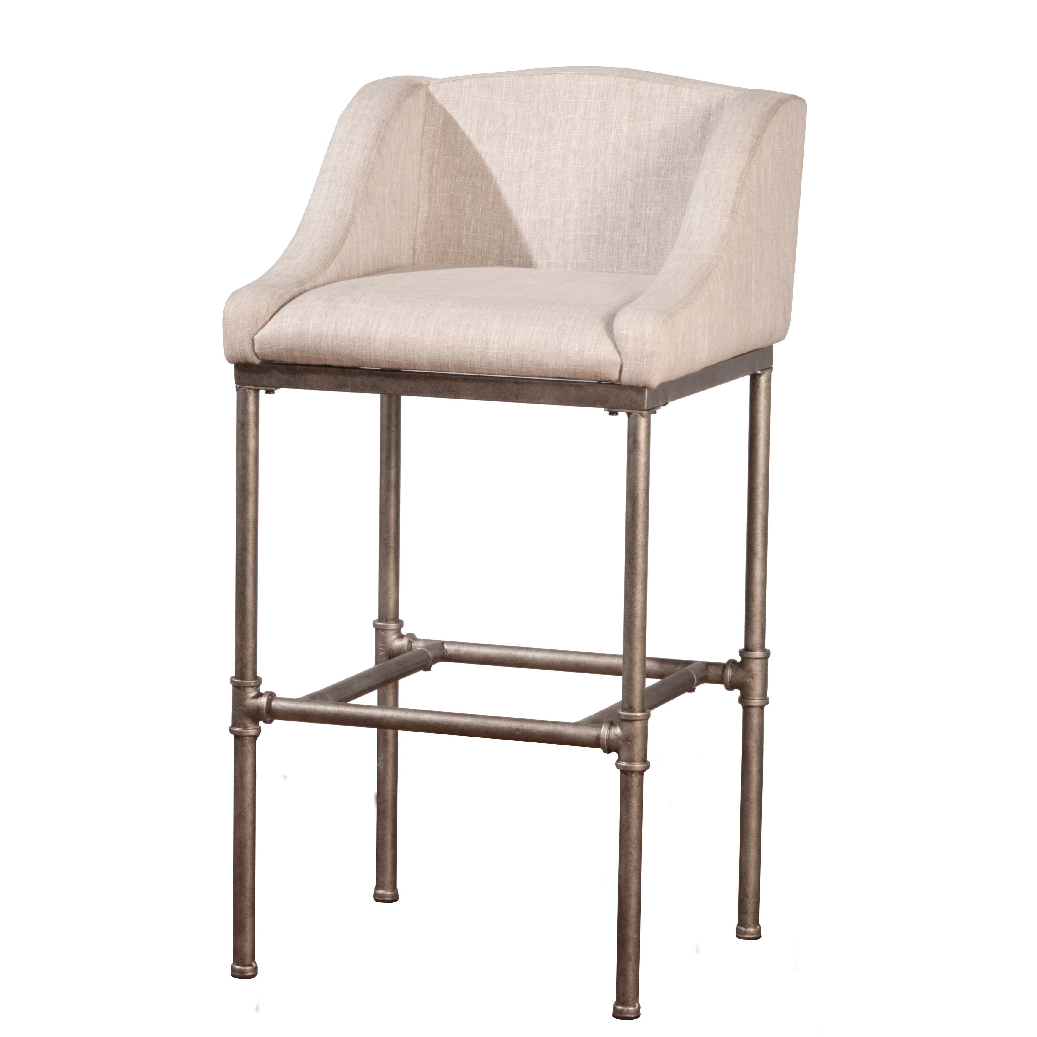 Shop hillsdale furniture dillion non swivel bar stool in textured silver on sale free shipping today overstock com 16289143