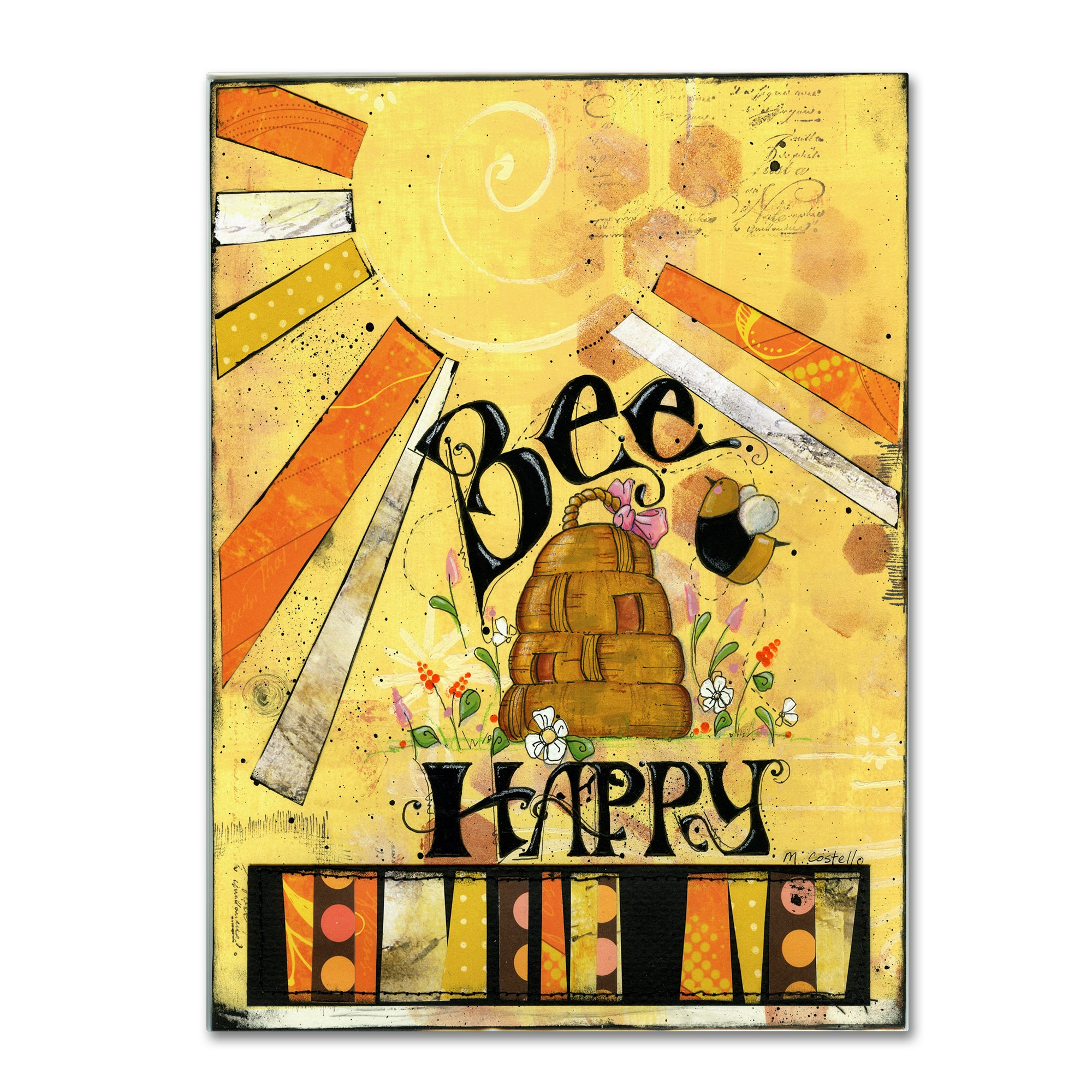 Maureen Lisa Costello \'Bee Hive Happy\' Canvas Art - Free Shipping On ...