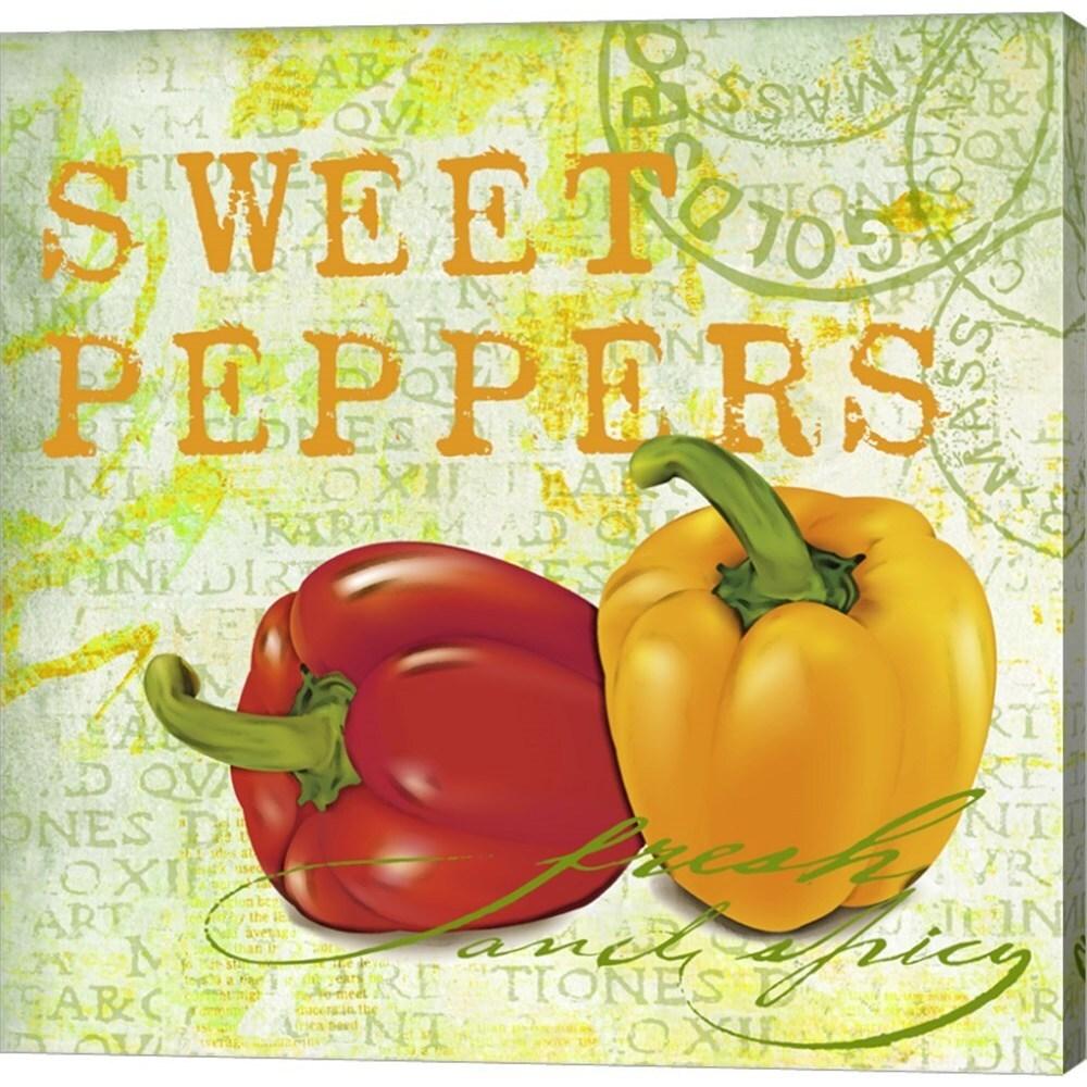 Andrea Haase \'Farmer\'s Market Sweet Pepper\' Canvas Art - Free ...