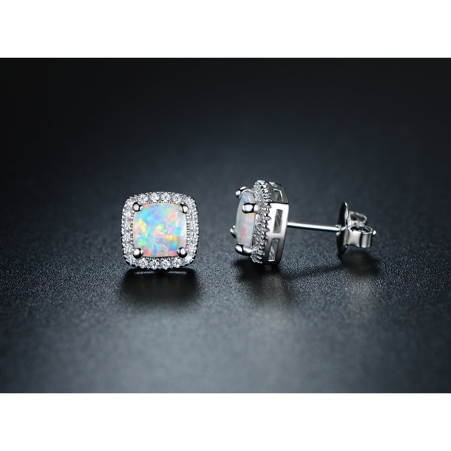 Gold Plated Fire Opal Stud Earrings On Free Shipping Orders Over 45 16293980