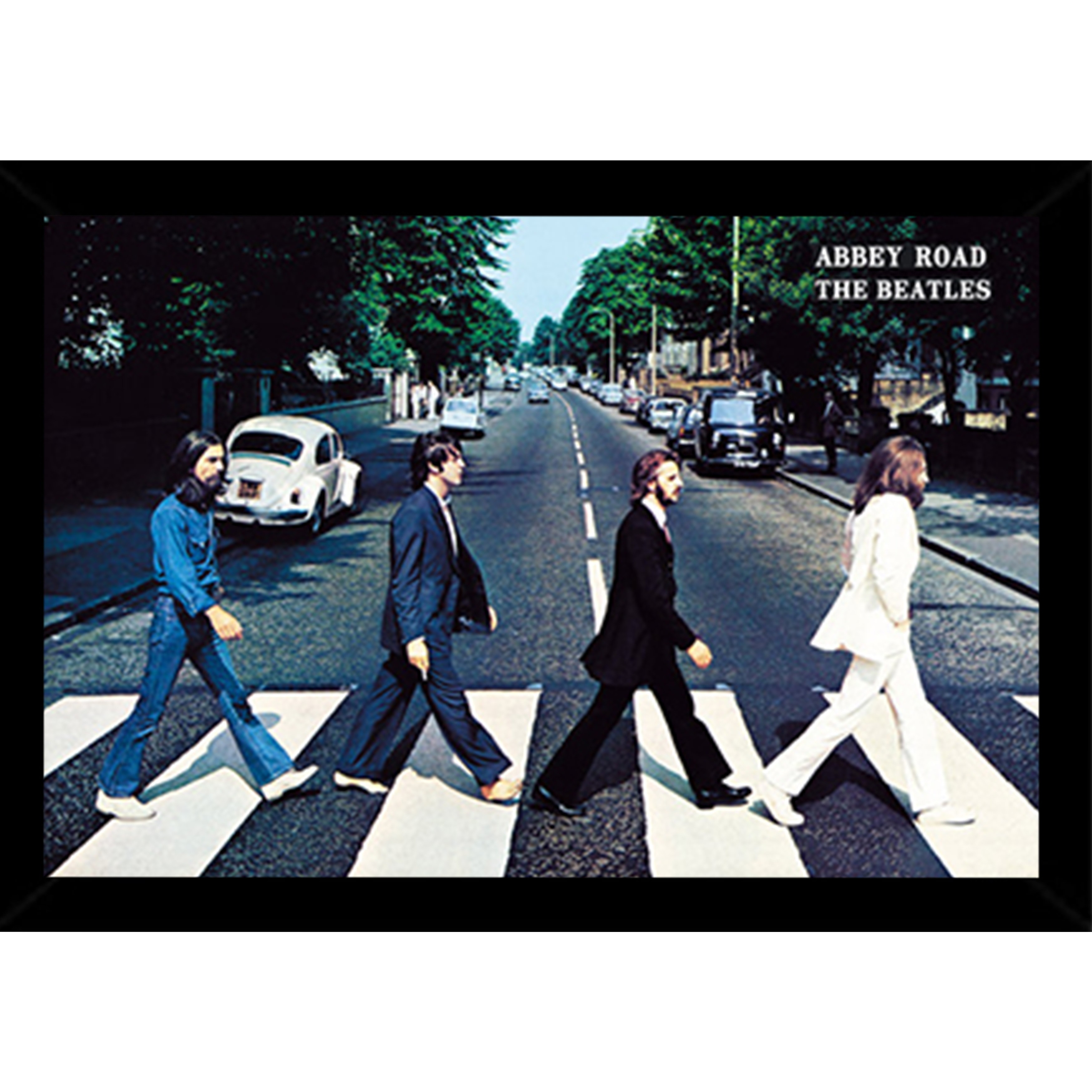 Shop The Beatles Abbey Road Poster In A Black Wood Frame 36x24