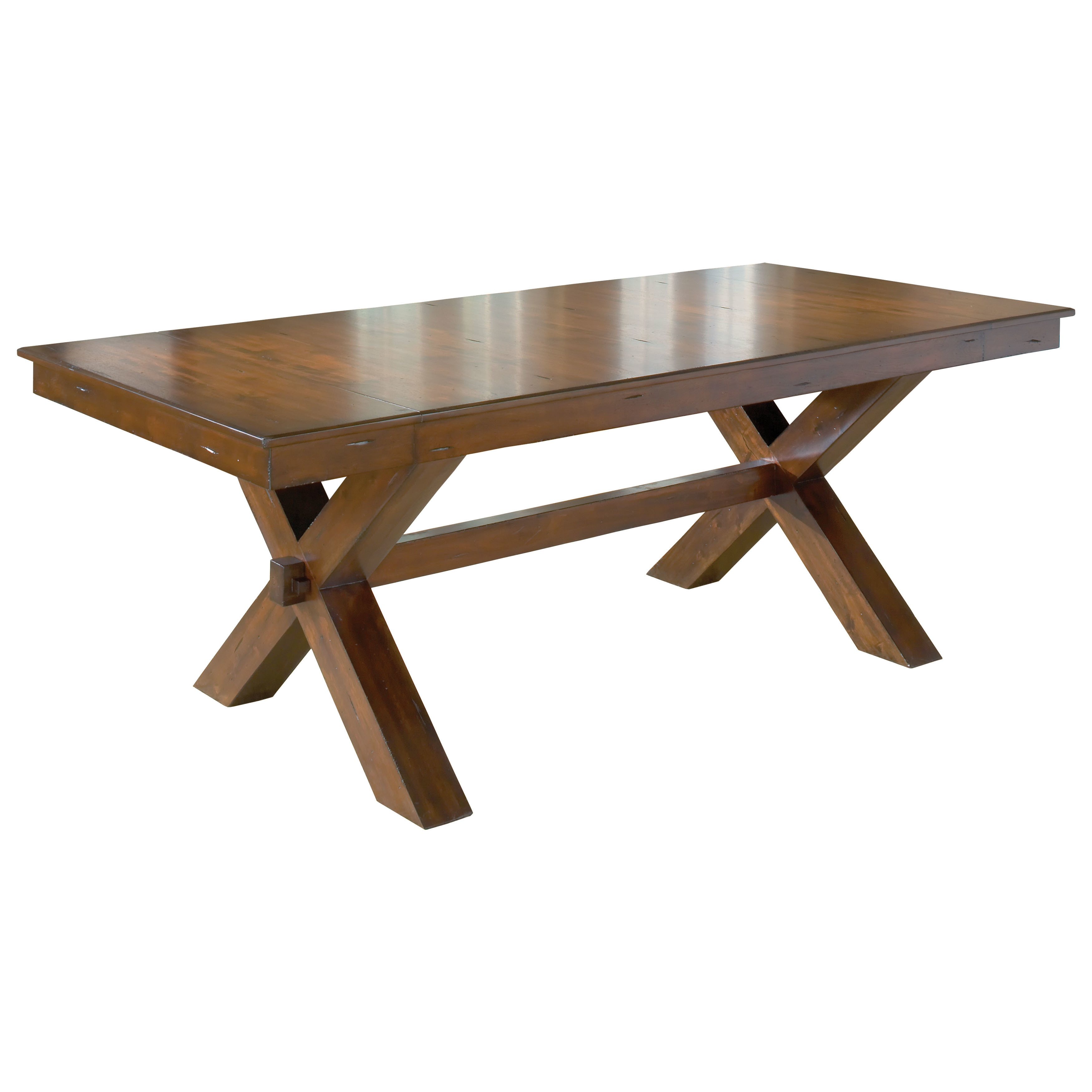Hilale Furniture Park Avenue Dark Cherry Finish Wood Trestle Table Free Shipping Today 16295081