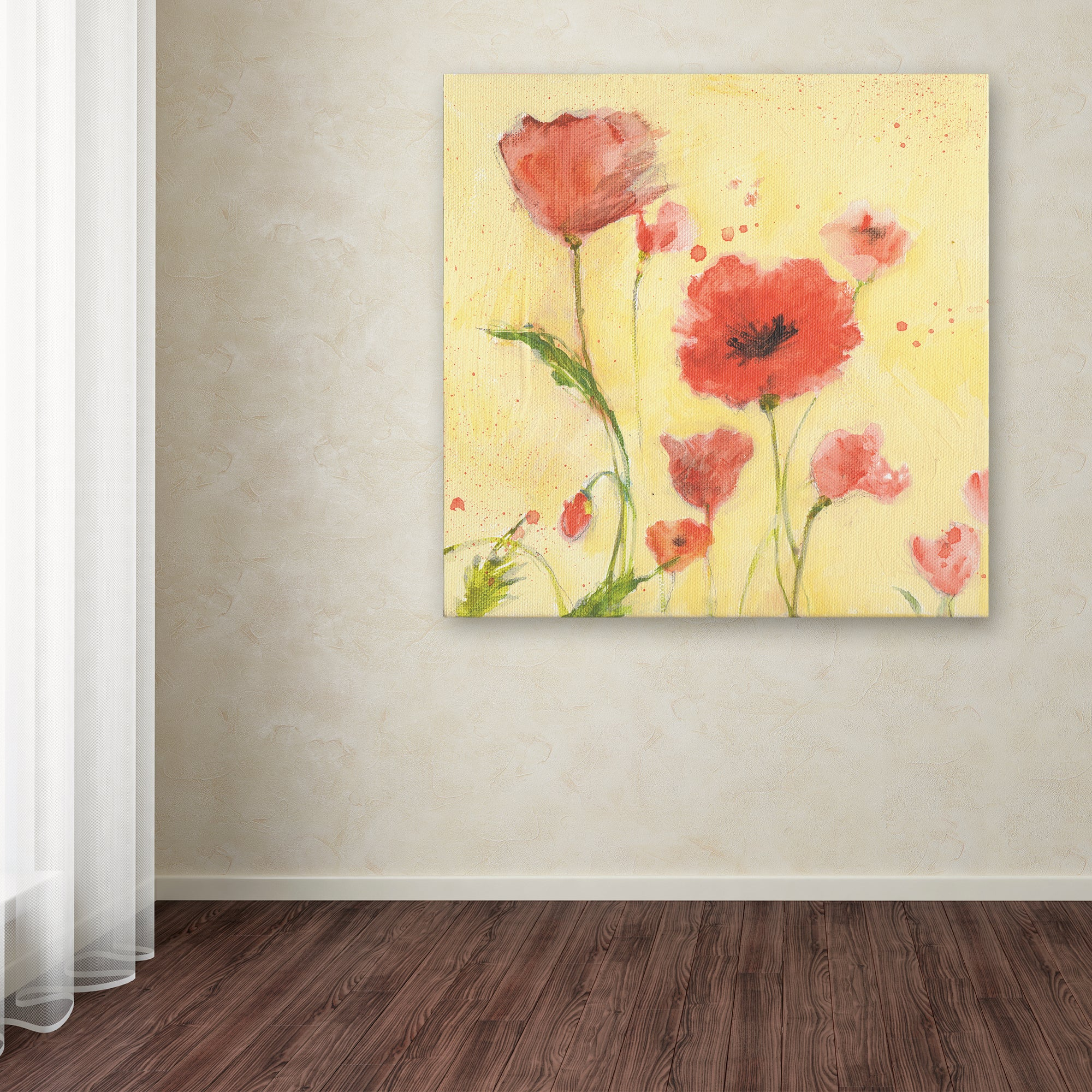 Sheila Golden \'Poppy Garden 1\' Canvas Art - Free Shipping On Orders ...